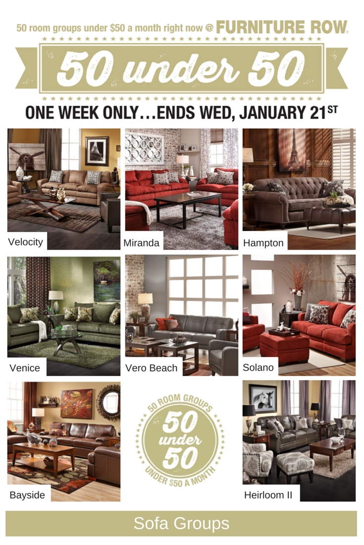 50 Under 50 Sale At Furniture Row - Front Door throughout Sofa Mart Chairs