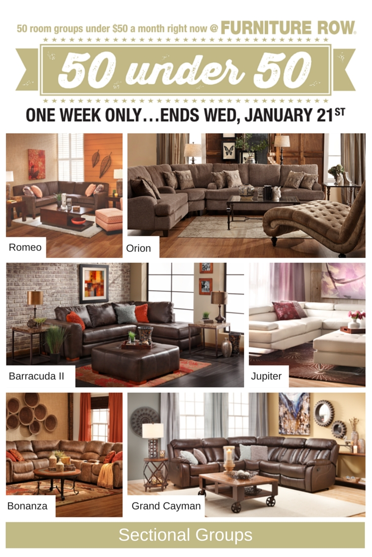 50 Under 50 Sale At Furniture Row – Front Door With Regard To Sofa Mart Chairs (View 3 of 20)