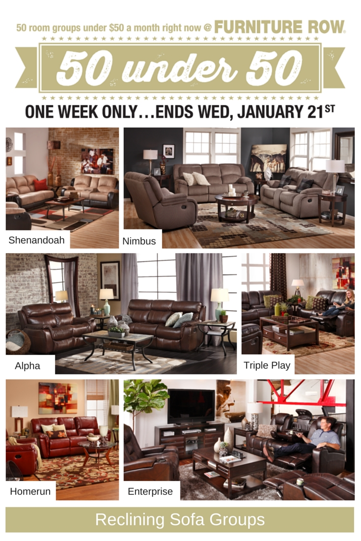 50 Under 50 Sale At Furniture Row - Front Door with Sofa Mart Chairs