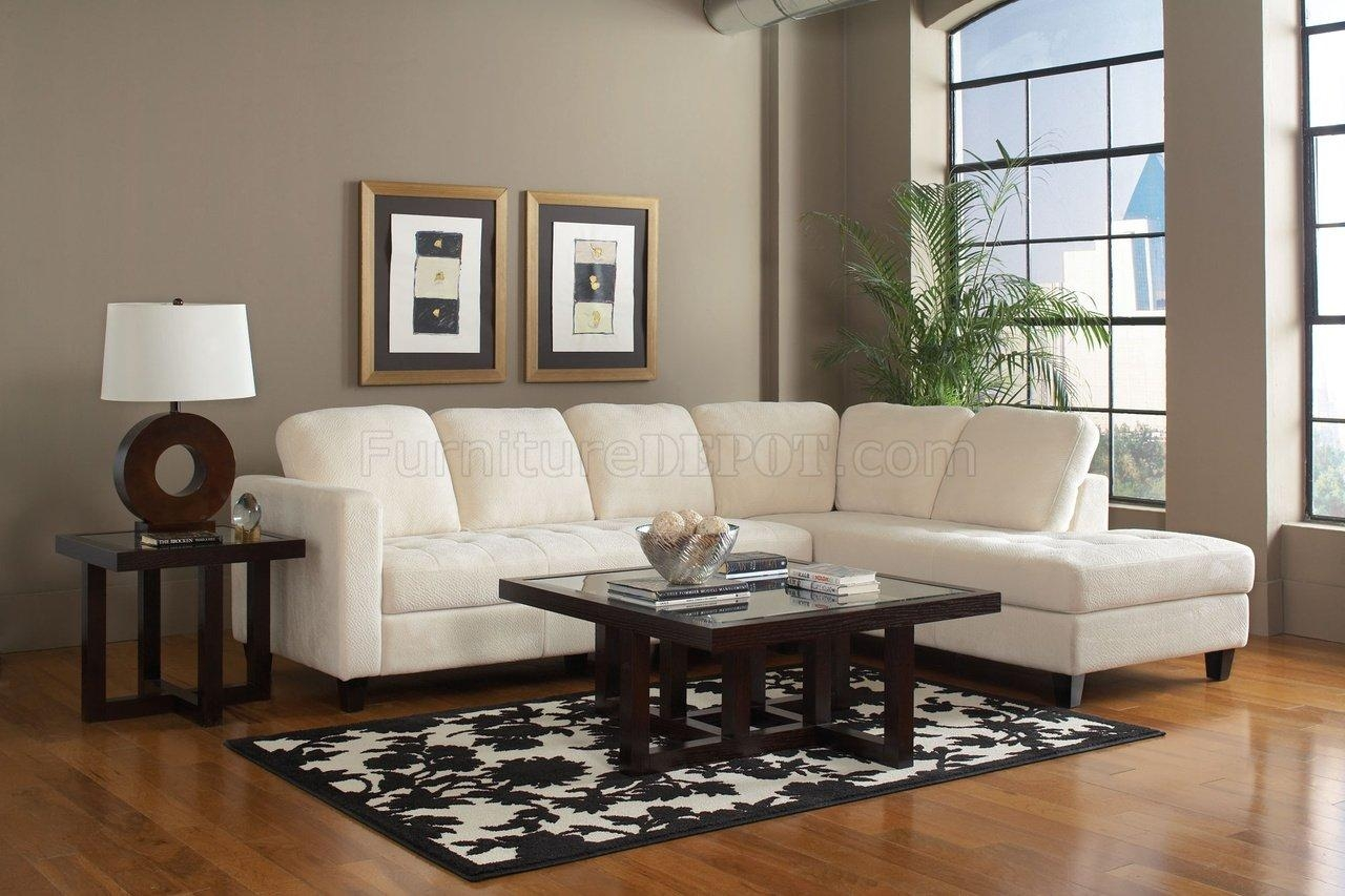 500715 Walker Sectional Sofacoaster In Off White Fabric Regarding Coaster Sectional Sofas (Image 1 of 20)