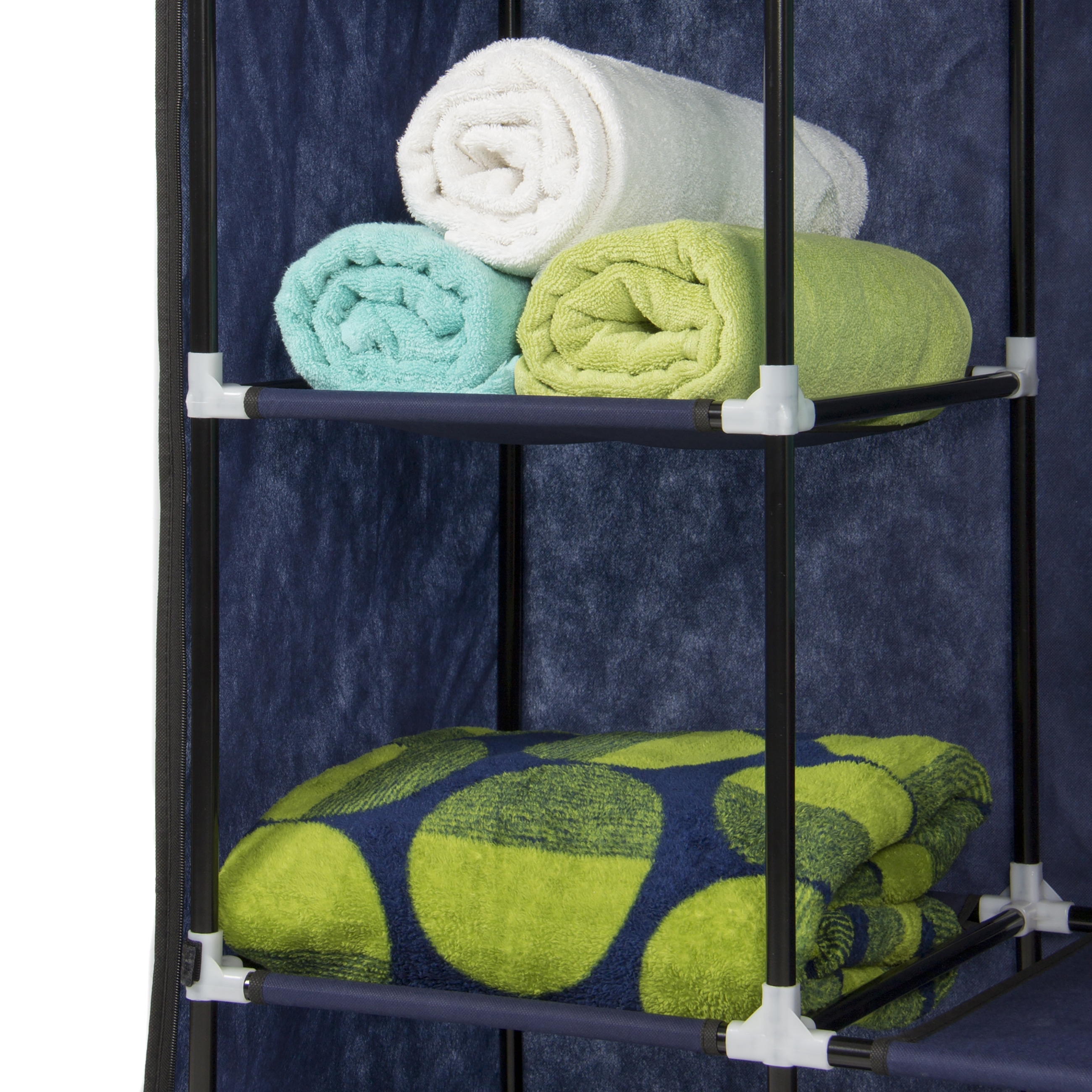 53    Portable Closet Storage Organizer Wardrobe Clothes Rack Within On The Go With A Portable Wardrobe Closet (Image 2 of 27)