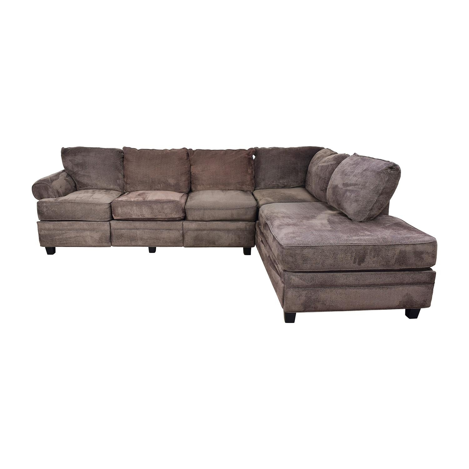 55% Off – Bob's Furniture Bob's Furniture Brown Sectional With Pertaining To Used Sectionals (Image 5 of 20)
