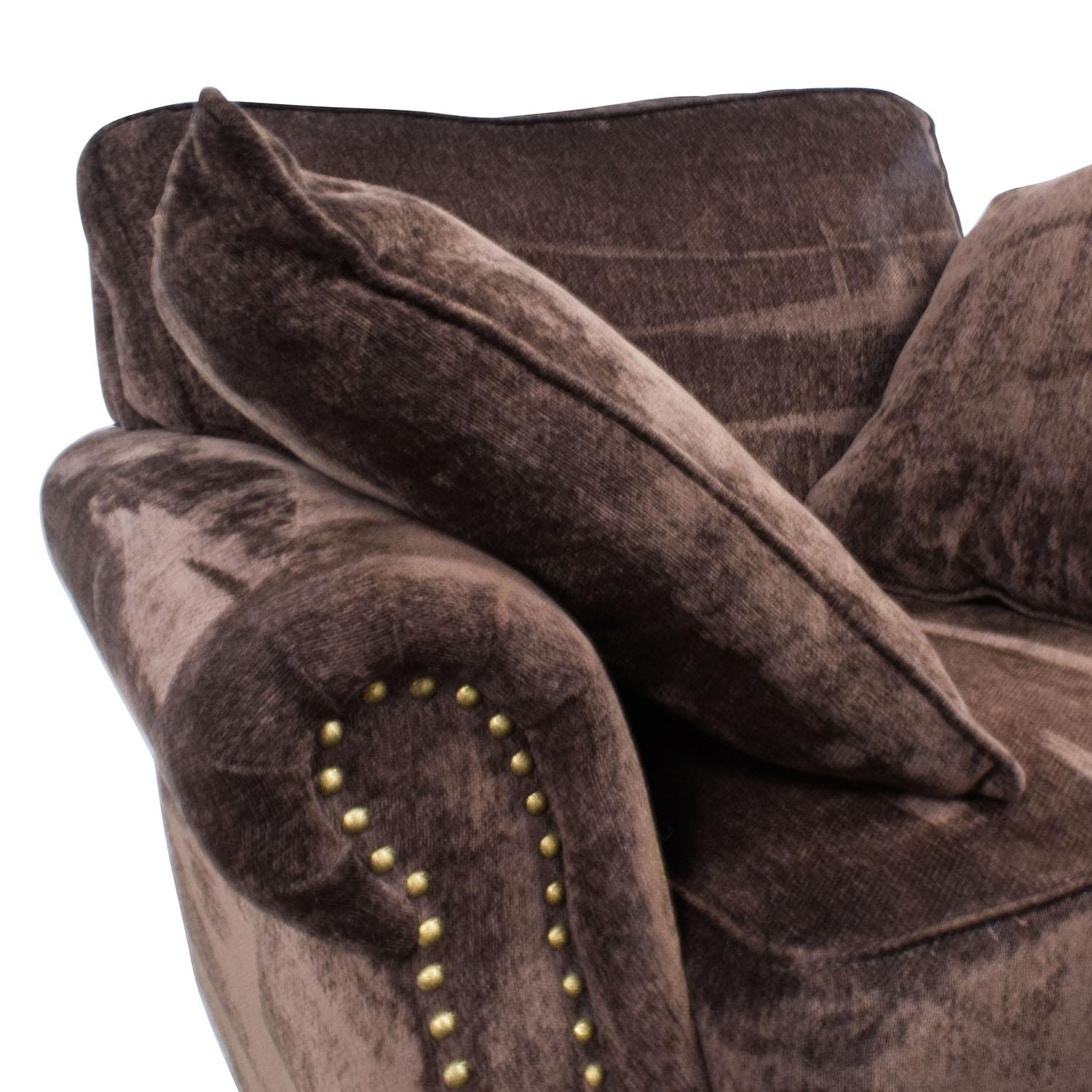 55% Off – Bob's Furniture Bob's Furniture Mirage Studded Brown With Regard To Brown Sofa Chairs (View 11 of 20)