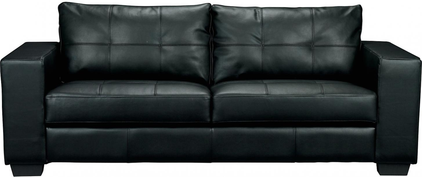 $550 Costa Black Bonded Leather Sofa | The Brick | Design With Inside The Brick Leather Sofa (View 7 of 20)