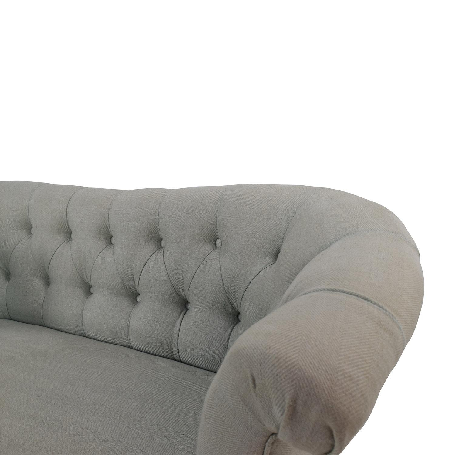 56% Off - Pier 1 Imports Pier 1 Colette Flax Loveseat / Sofas pertaining to Pier 1 Sofa Beds