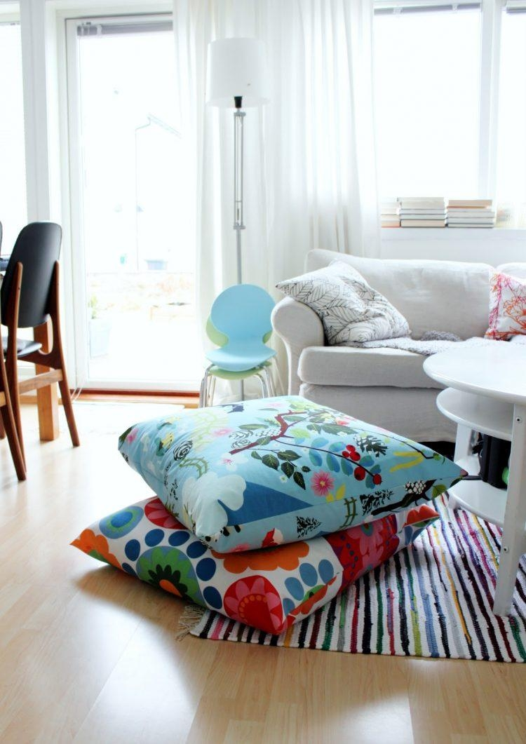 57 Cool Ideas To Decorate Your Place With Floor Pillows – Shelterness Intended For Floor Cushion Sofas (View 11 of 20)