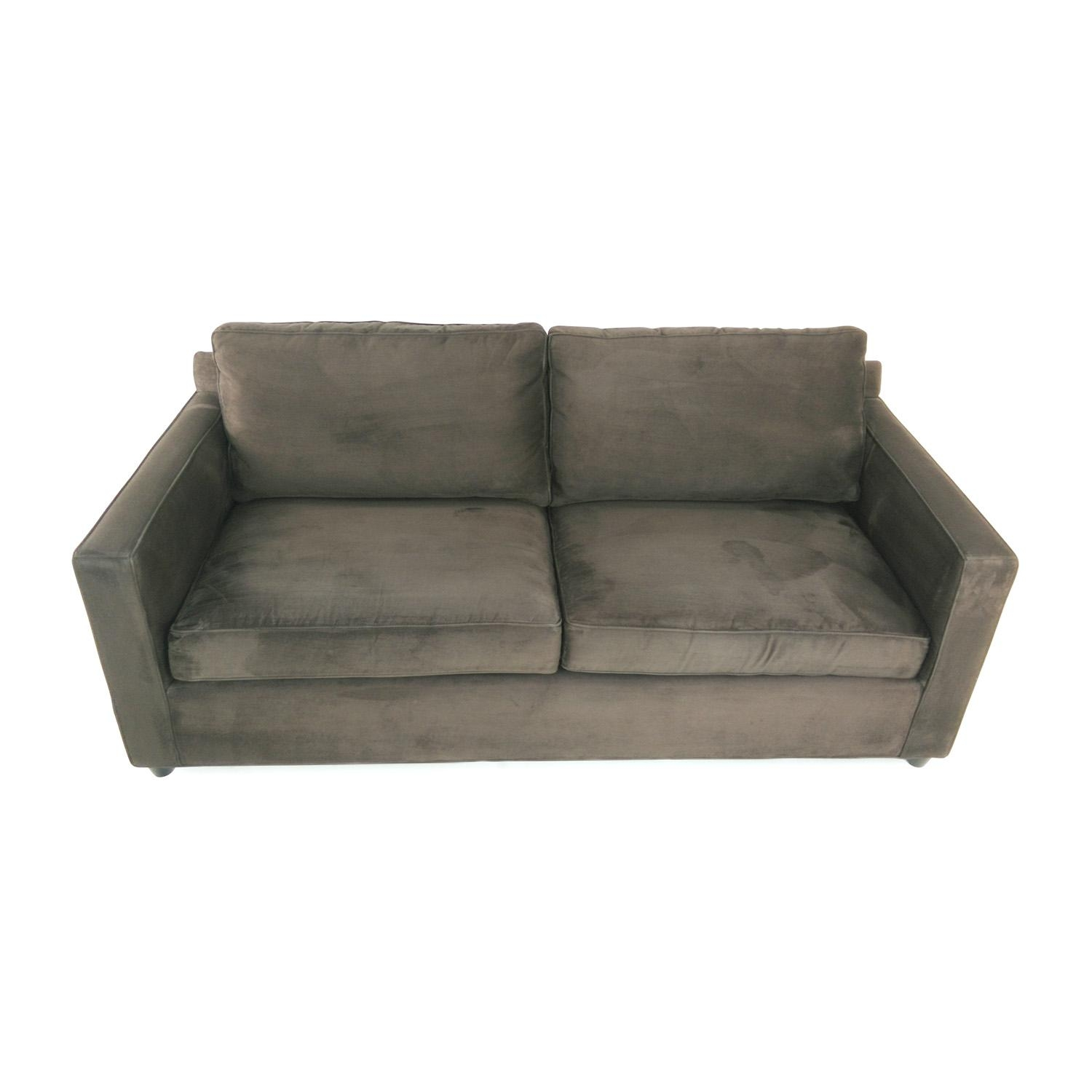 57% Off – Crate And Barrel Crate & Barrel Davis Sofa / Sofas Pertaining To Davis Sofas (Image 1 of 20)