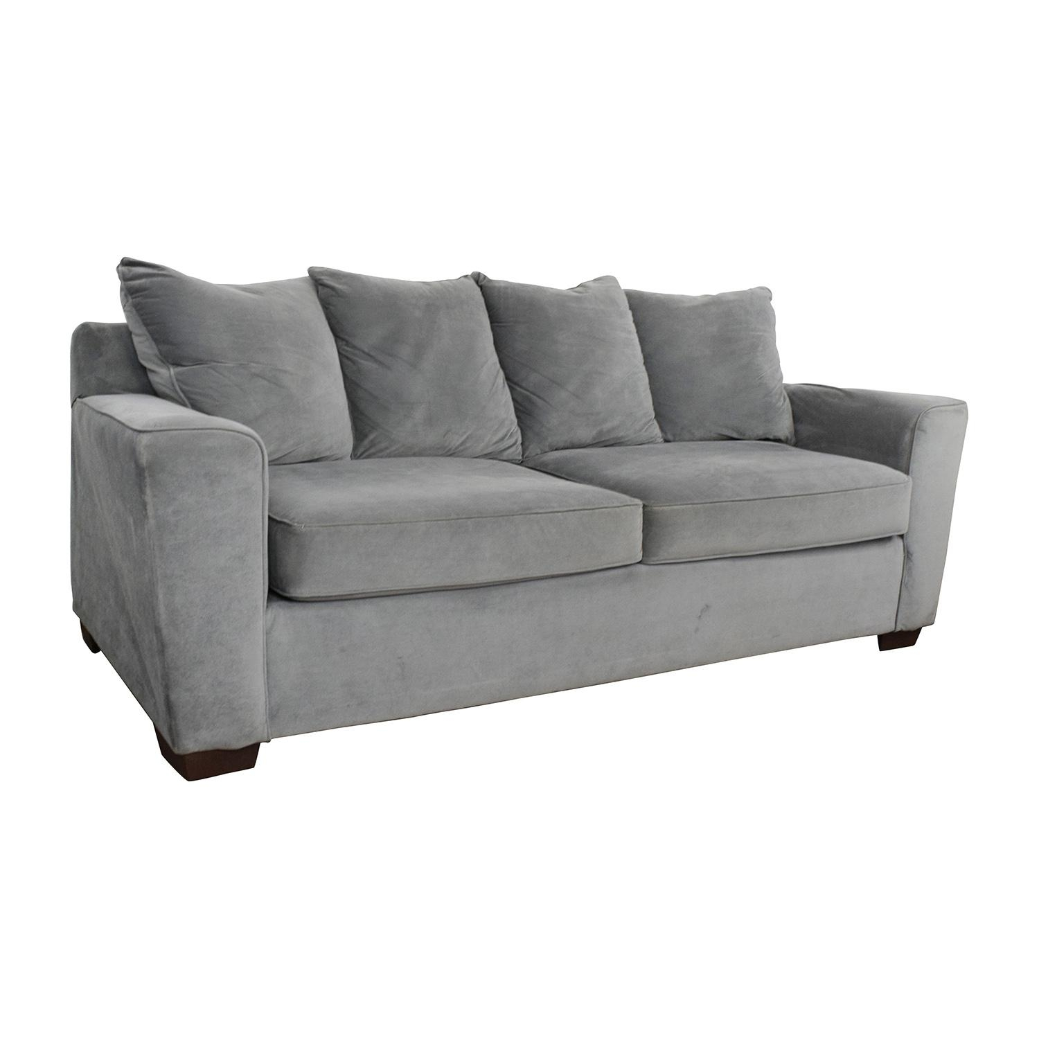 57% Off – Jennifer Convertibles Jennifer Convertibles Grey Couch Intended For Jennifer Sofas (Image 3 of 20)