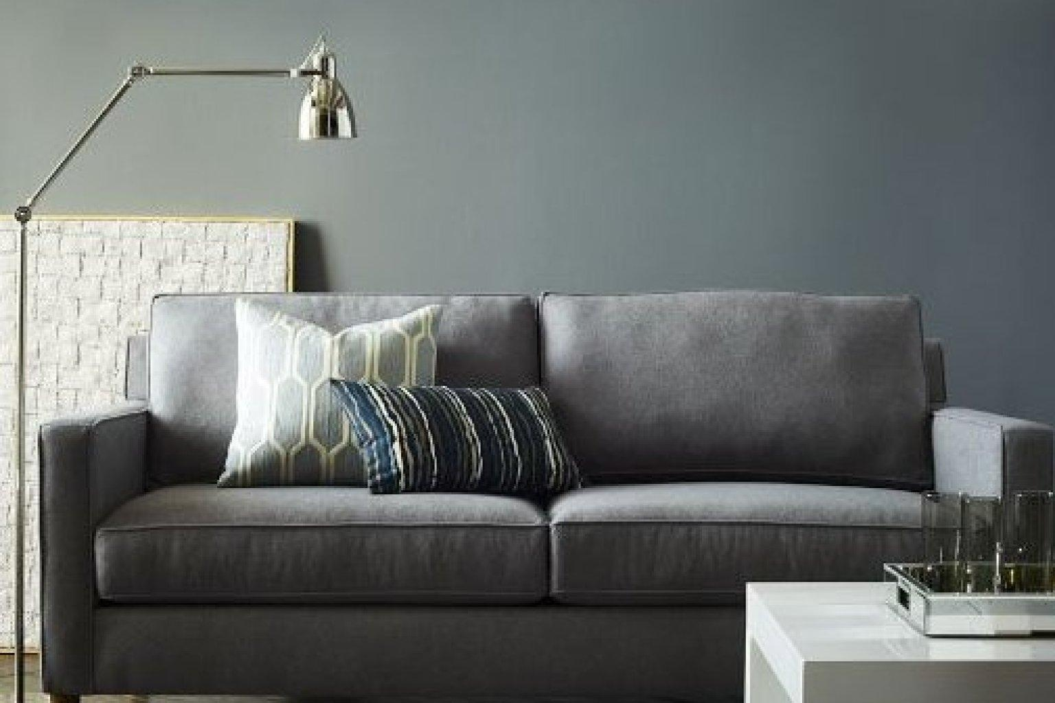 6 Couches For Small Apartments That Will Actually Fit In Your Intended For Small Grey Sofas (Image 2 of 20)