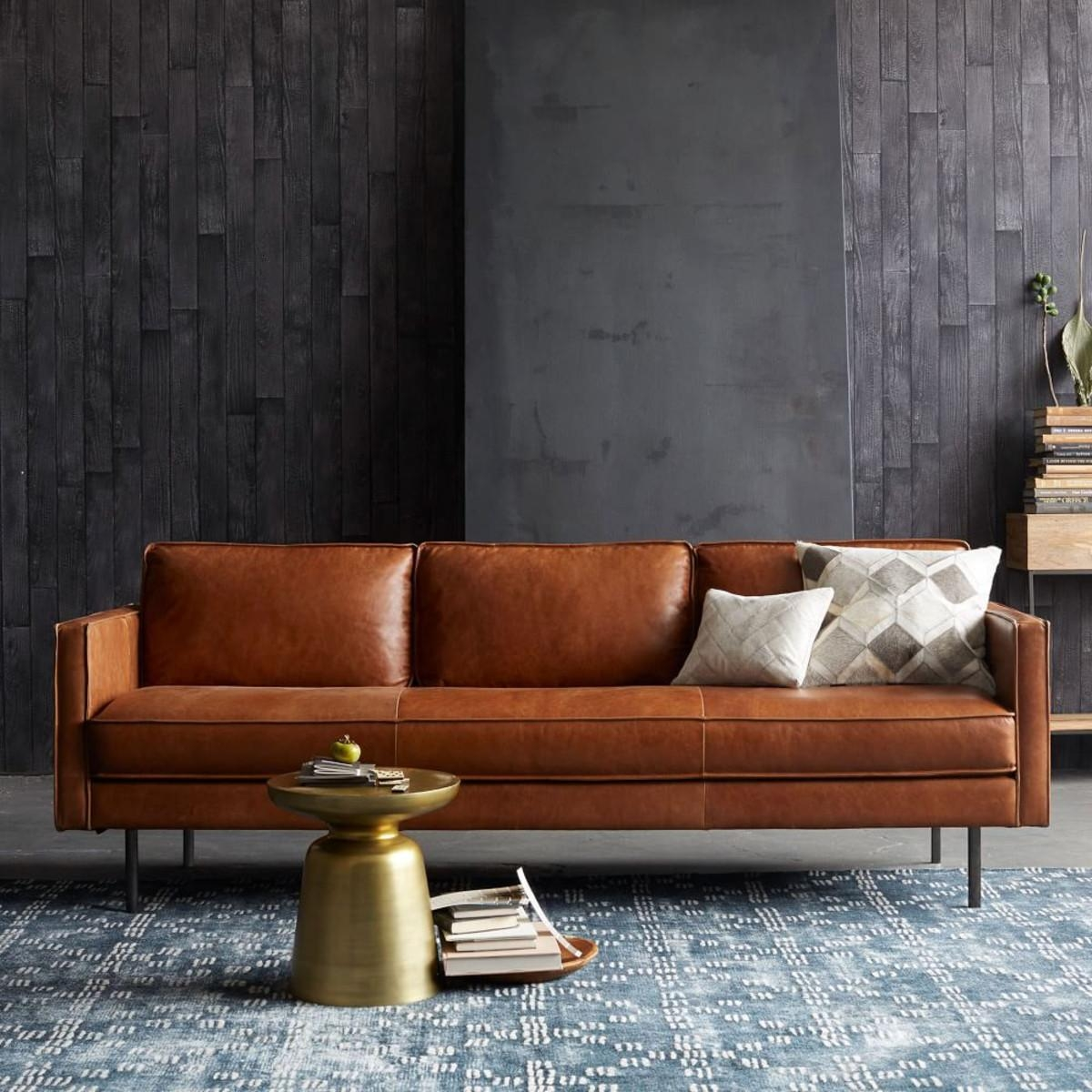 6 Of The Besttan Leather Sofas On The High Street | Design Seeker for Aniline Leather Sofas