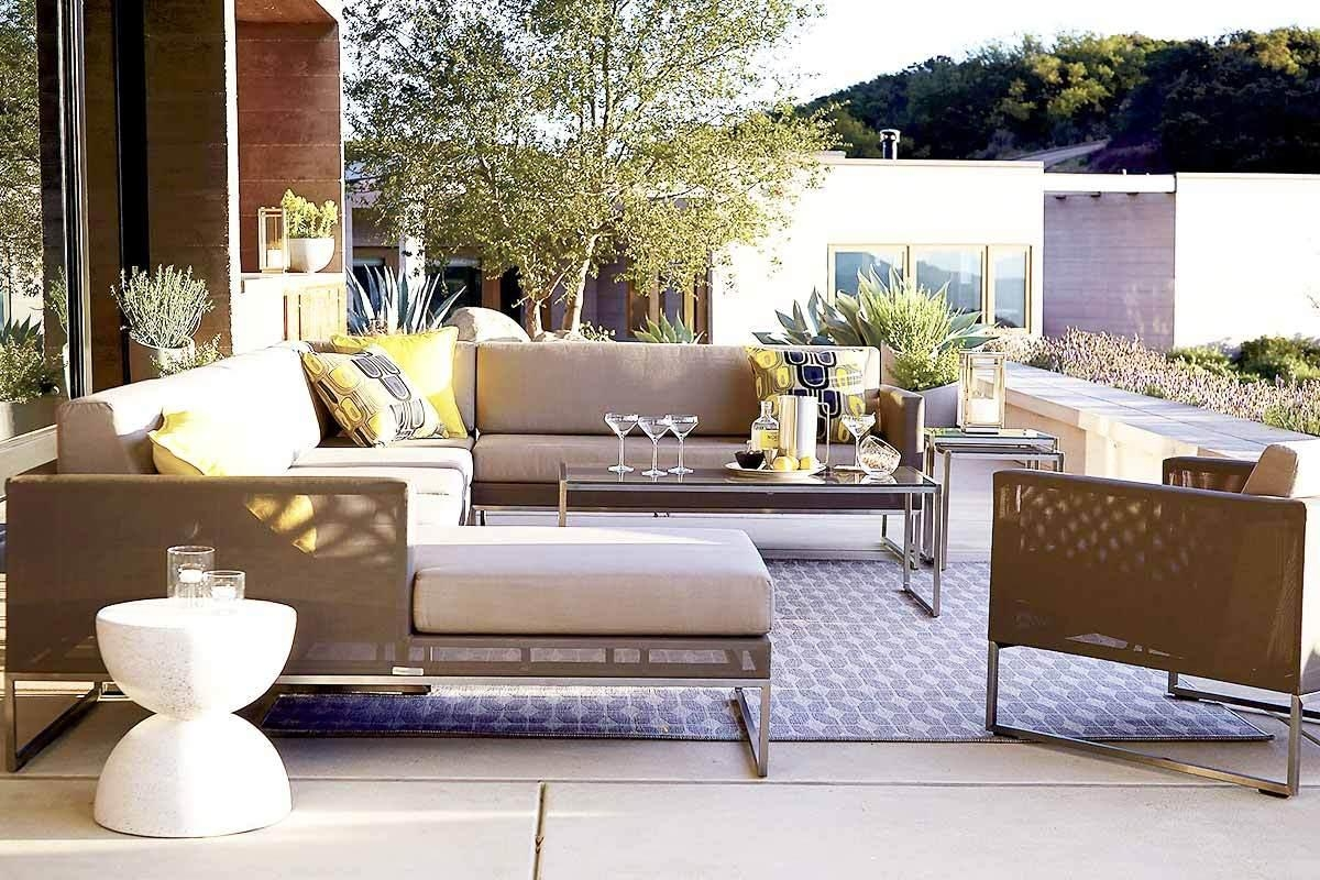 6 Outdoor Sectional Sofas For A Contemporary Patio pertaining to Sectional Crate and Barrel