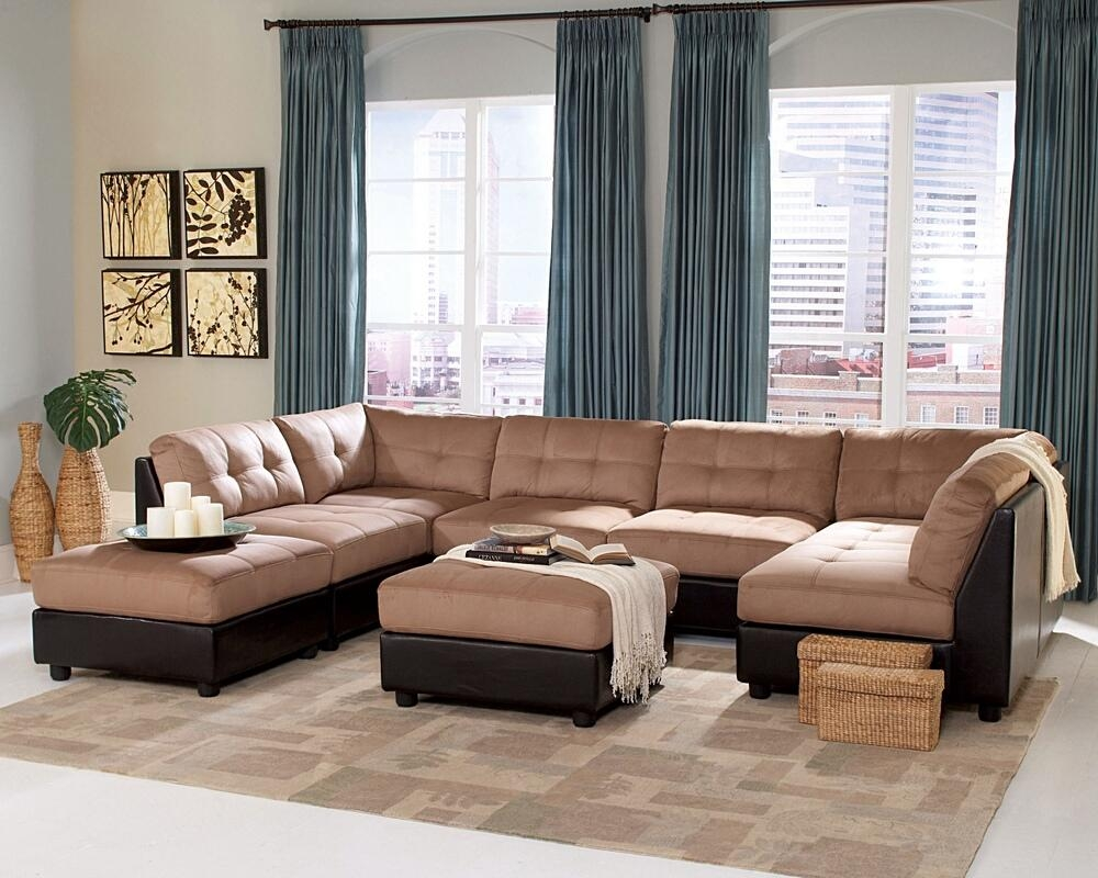 6 Pc Claude Collection Two Inside Two Tone Sofas (Image 3 of 20)