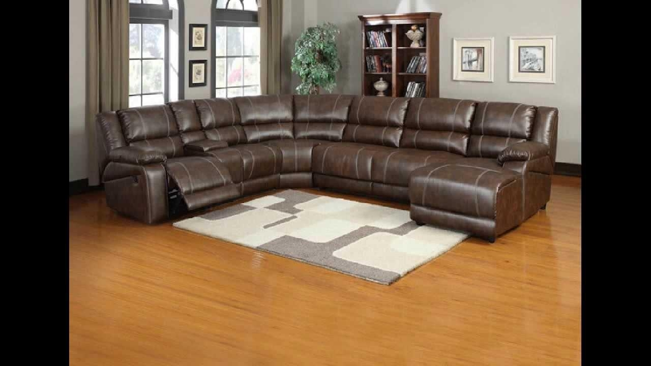 6 Pc Miller Saddle Brown Bonded Leather Sectional Sofa With Pertaining To 6 Piece Sectional Sofas Couches (Image 1 of 20)