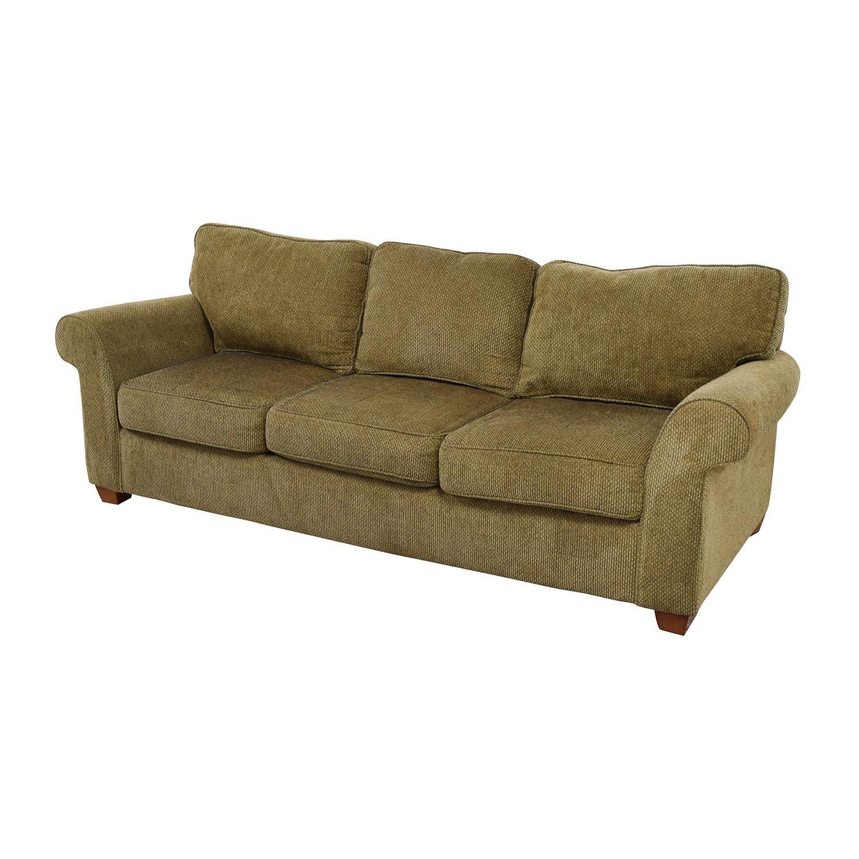 60% Off - Bloomingdale's Bloomingdale's Beige Tweed Fabric Sofa inside Bloomingdales Sofas