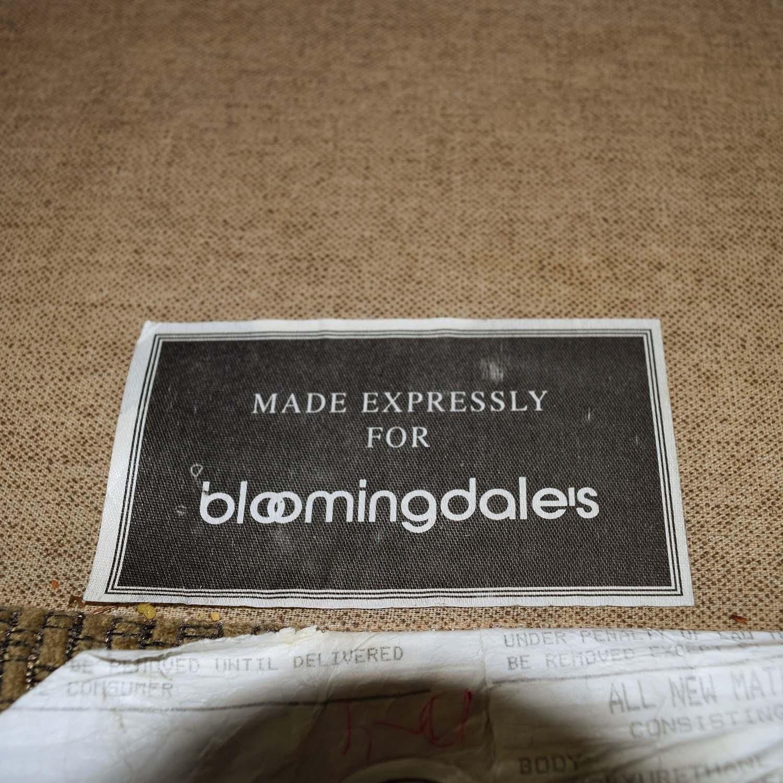 60% Off - Bloomingdale's Bloomingdale's Beige Tweed Fabric Sofa intended for Bloomingdales Sofas