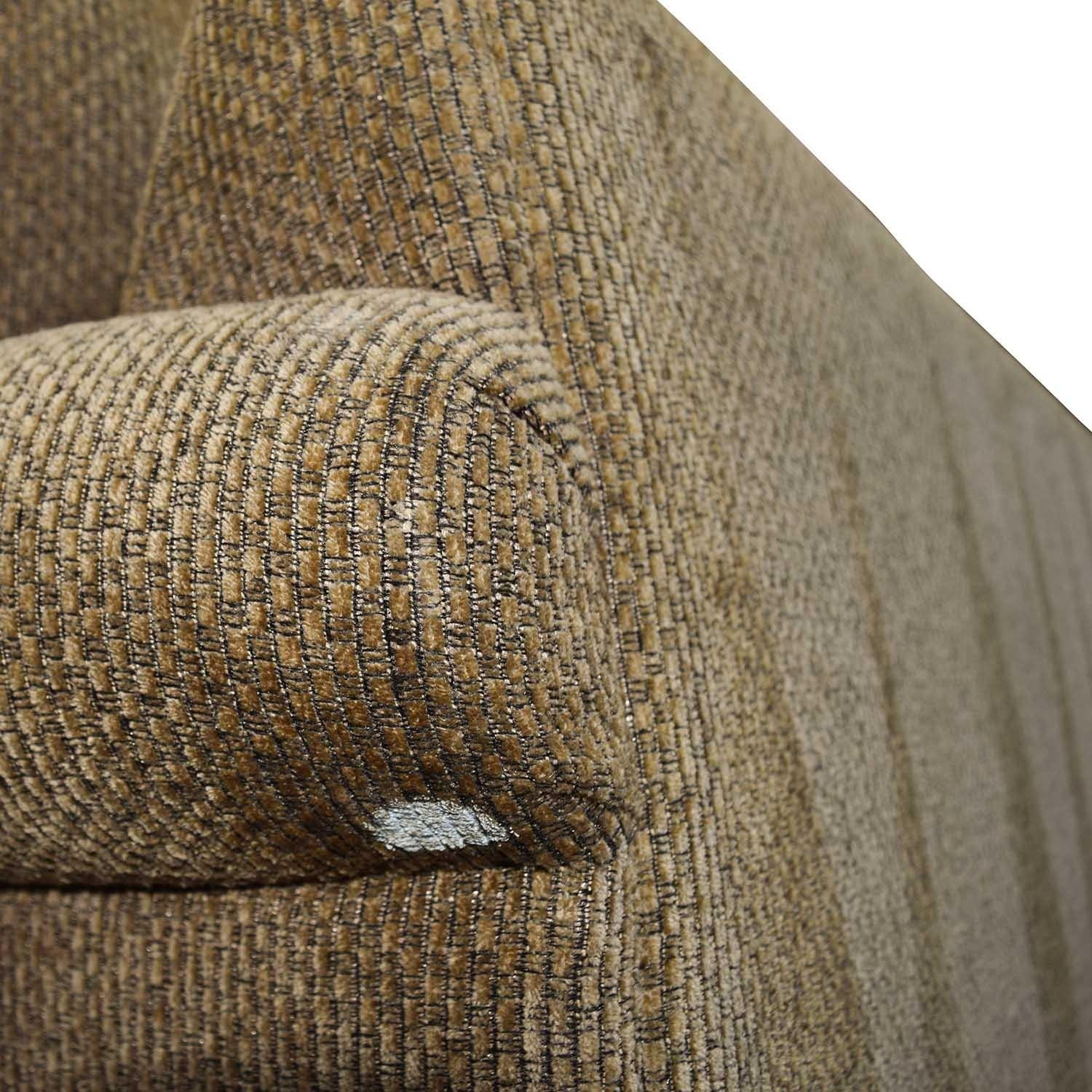 60% Off - Bloomingdale's Bloomingdale's Beige Tweed Fabric Sofa intended for Bloomingdales Sofas