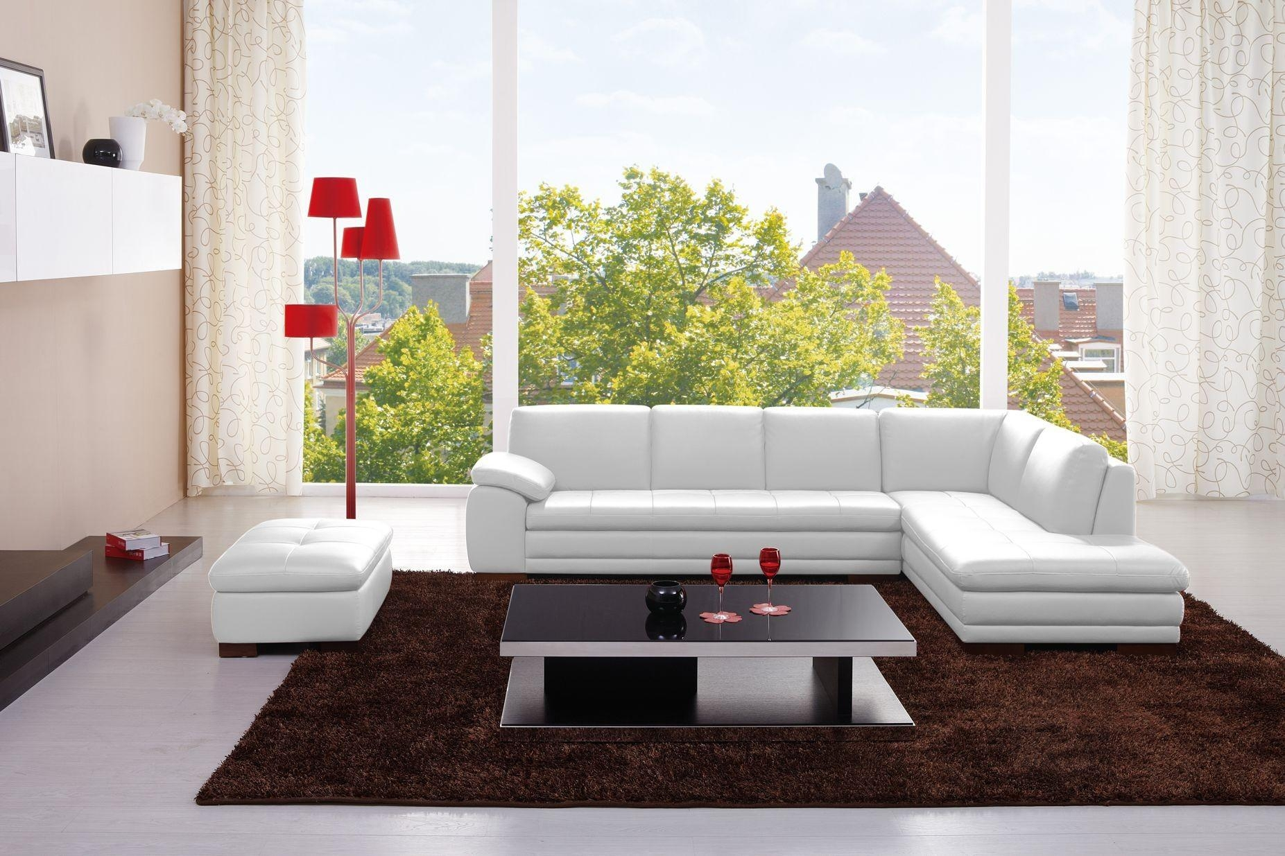 625 Italian Leather Modern Sectional Sofa throughout Leather Modern Sectional Sofas