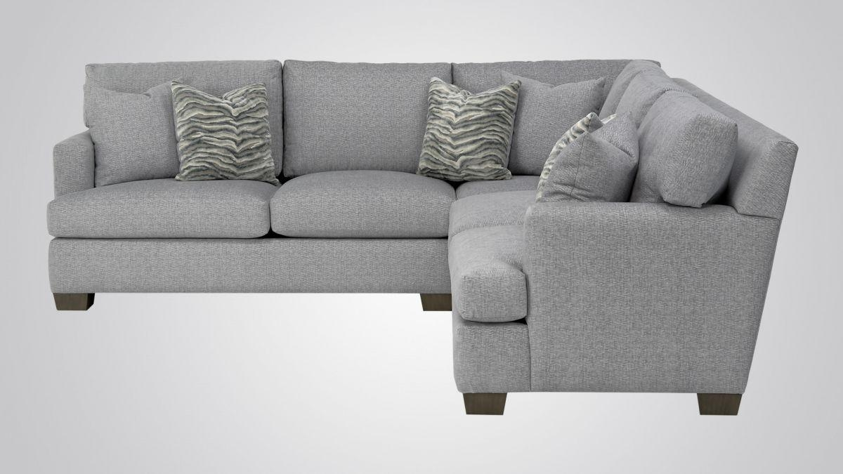 629 – Sectional With 447 Arm – Burton James For Burton James Sectional Sofas (View 3 of 20)