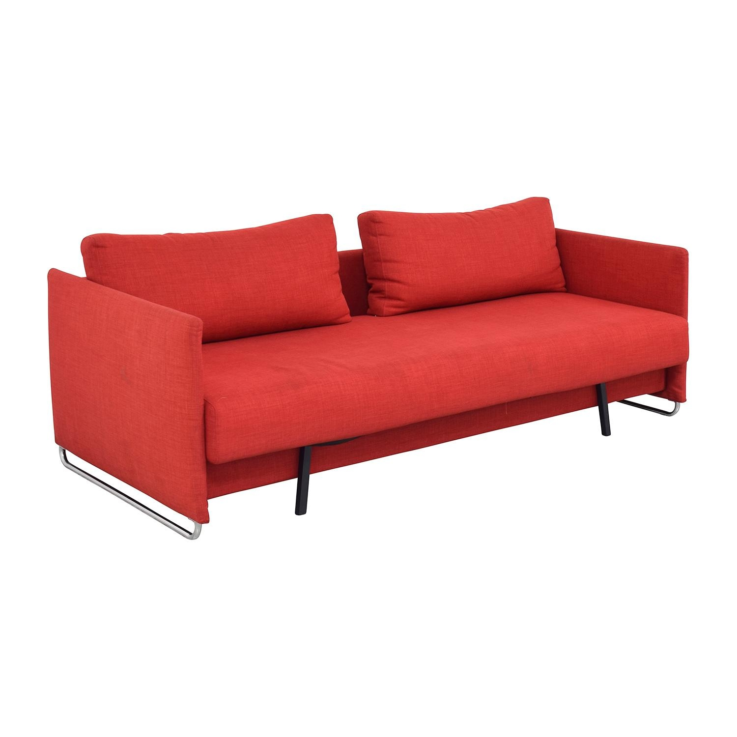 63% Off - Cb2 Cb2 Tandom Red Sleeper Sofa / Sofas with regard to Red Sleeper Sofa
