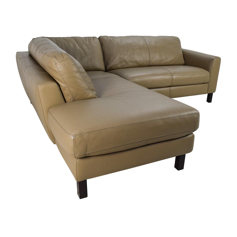65% Off - Bloomingdales Bloomingdales Leather Sectional / Sofas regarding Bloomingdales Sofas