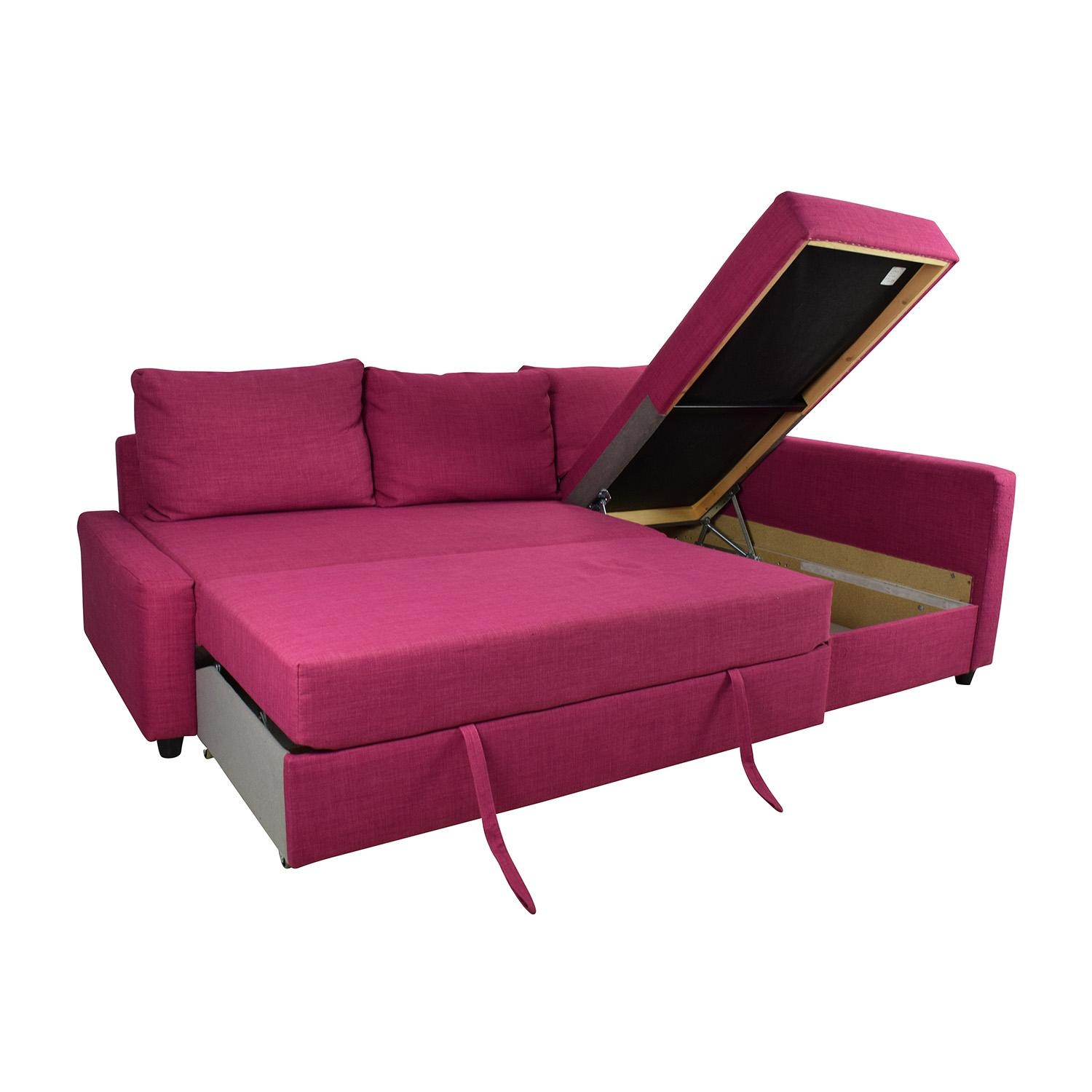 66% Off – Ikea Ikea Friheten Pink Sleeper Sofa / Sofas Pertaining To Sleeper Sofa Sectional Ikea (Image 1 of 20)