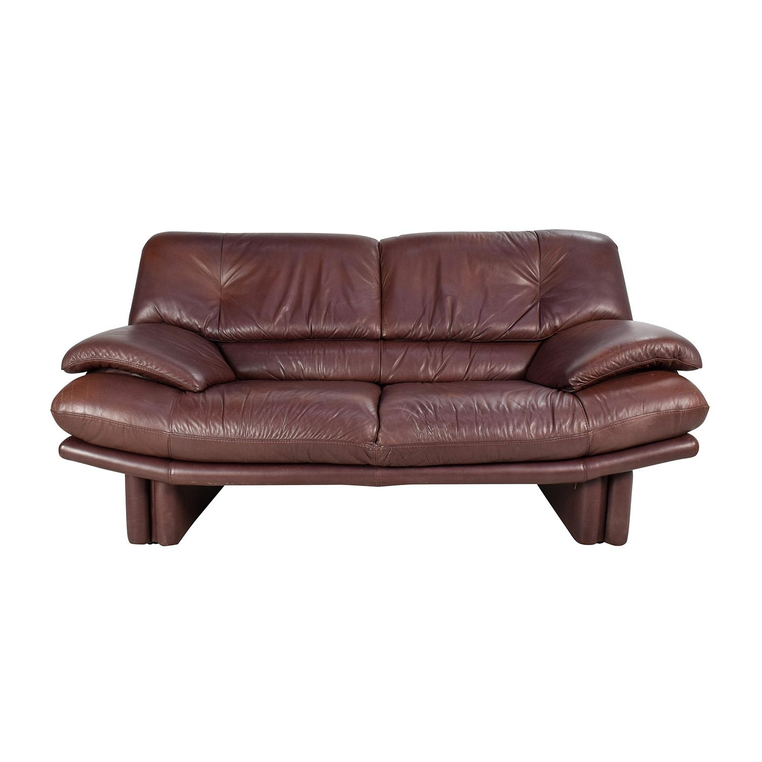 67% Off – Maurice Villency Maurice Villency Brown Leather Sofa / Sofas Intended For Canterbury Leather Sofas (View 17 of 20)