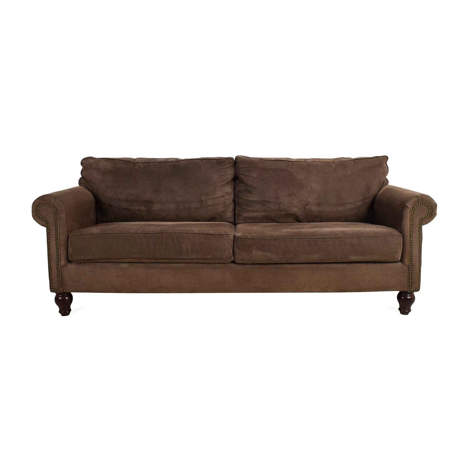 67% Off – Pier 1 Imports Pier 1 Alton Ecru Rolled Arm Sofa / Sofas Pertaining To Pier 1 Sofas (Photo 15 of 20)
