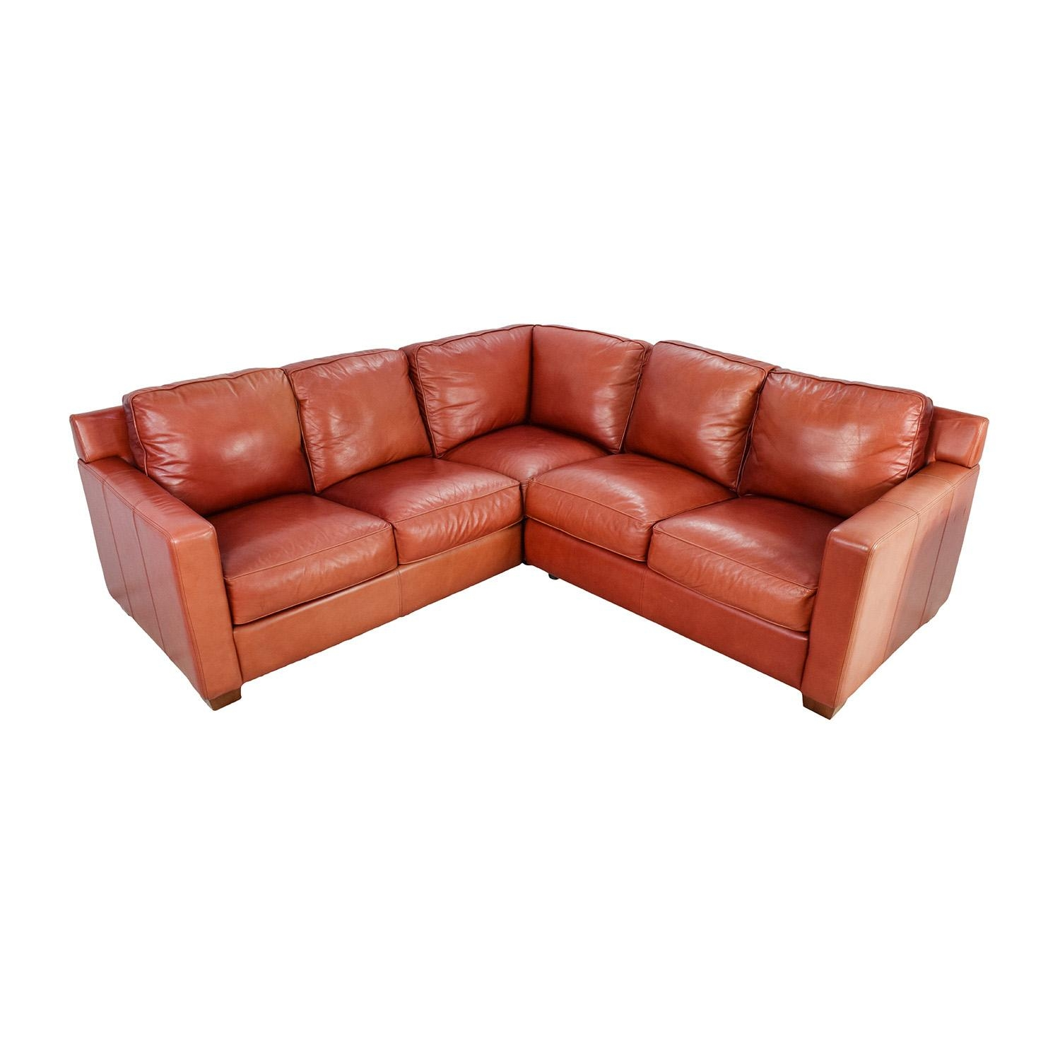 68% Off - Thomasville Thomasville Red Leather Sectional / Sofas intended for Thomasville Leather Sectionals