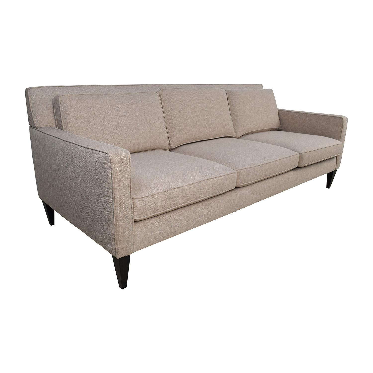 69% Off – Crate And Barrel Crate & Barrel Rochelle Desert Sofa / Sofas Within Crate And Barrel Futon Sofas (Image 3 of 20)
