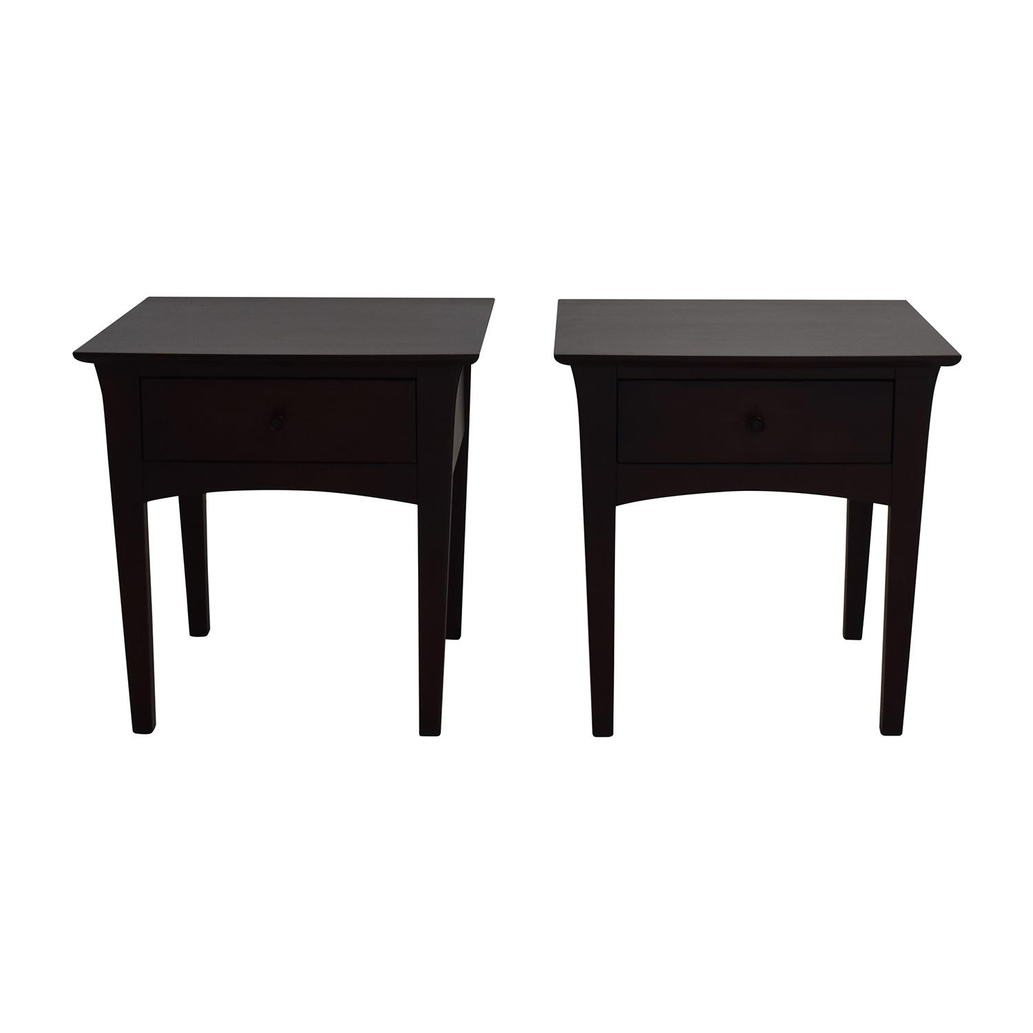 70% Off - Crate And Barrel Crate & Barrel Baronet Nightstands / Tables for Crate and Barrel Sofa Tables