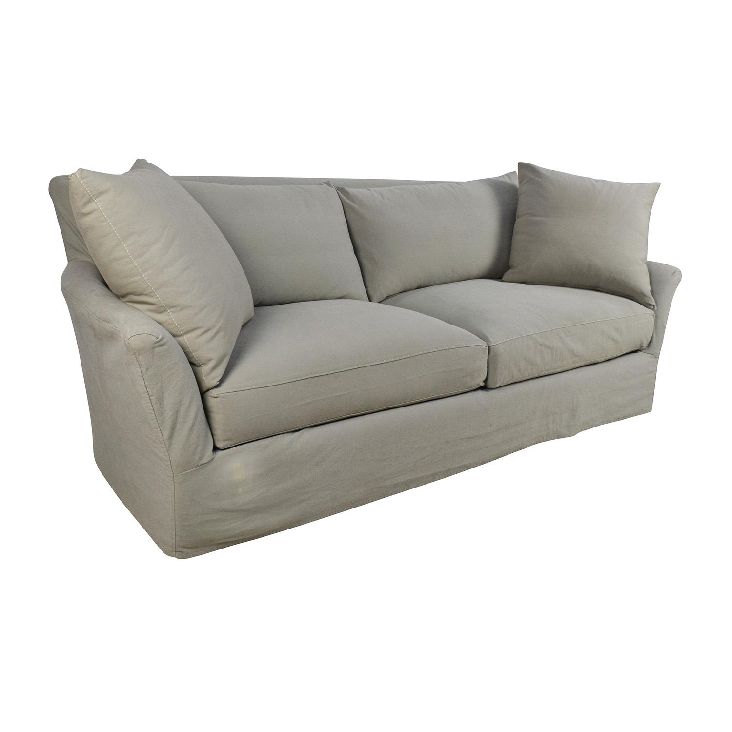70% Off - Crate And Barrel Crate & Barrel Willow Sage Green Sofa pertaining to Crate and Barrel Sofa Sleepers