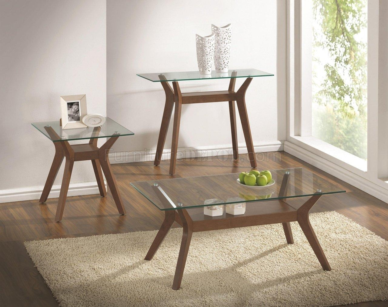 704168 3Pc Coffee Table Setcoaster W/optional Sofa Table Intended For Sofa Table With Chairs (Image 1 of 20)