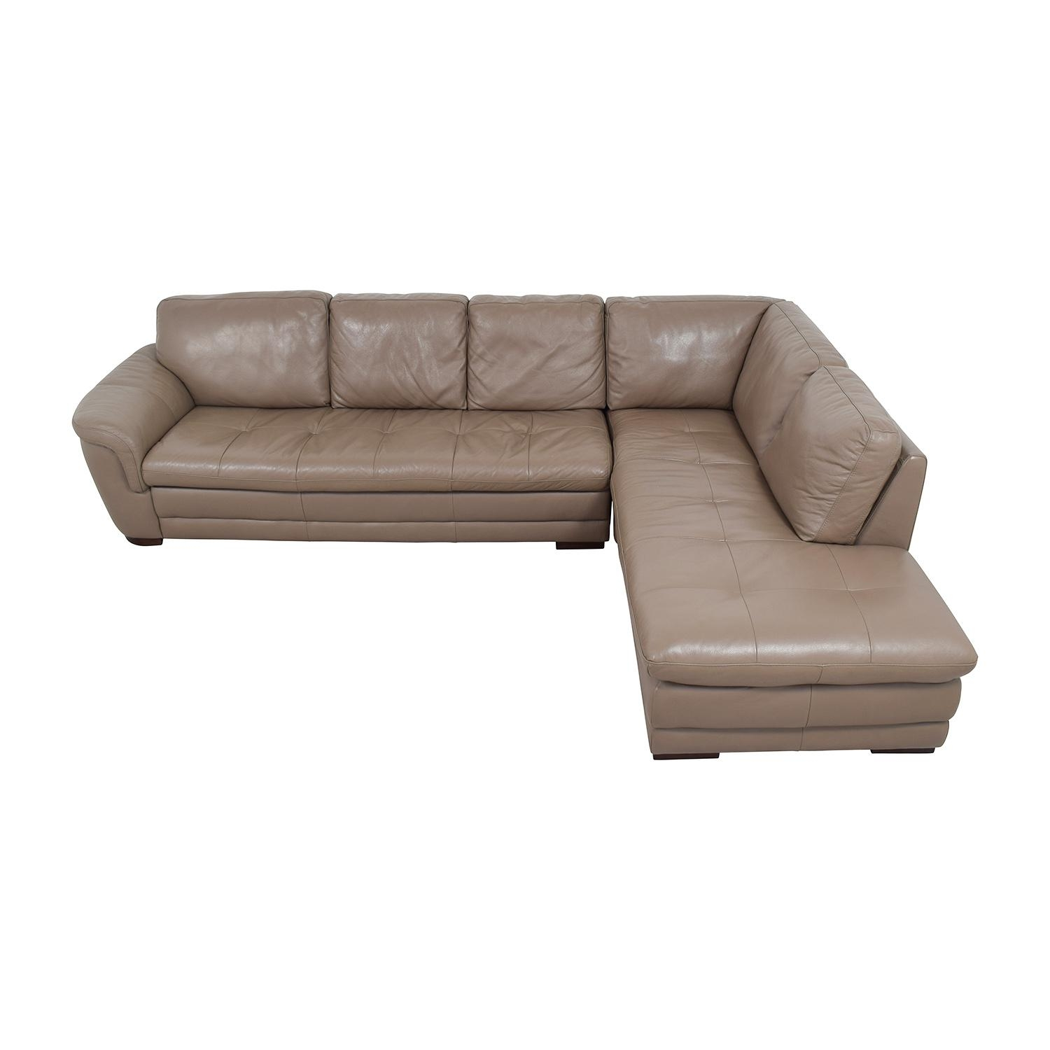 71% Off - Raymour And Flanigan Raymour & Flanigan Tan Tufted for Used Sectionals