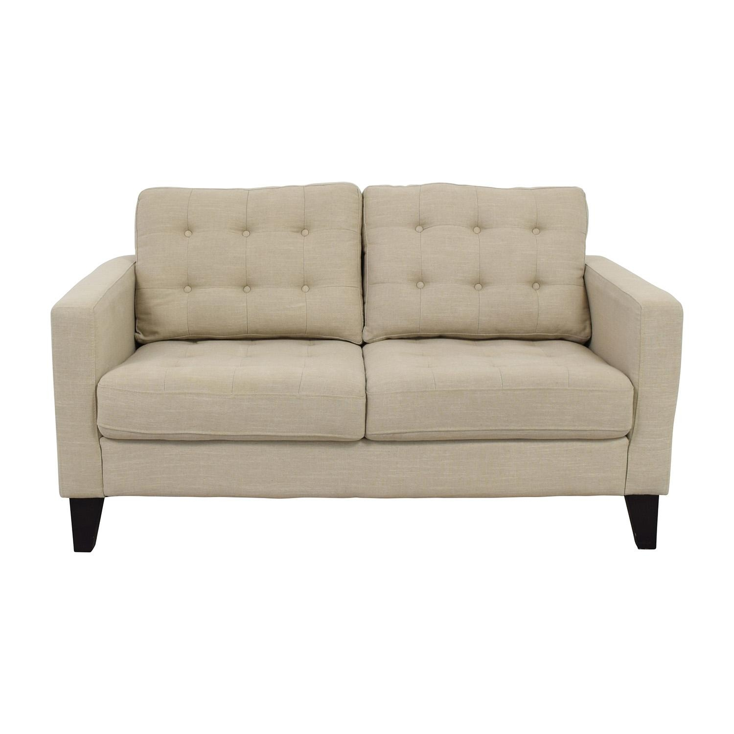 72% Off – Serta Serta Astoria Coated Fabric Sofa In Cannoli Cream Throughout Pier 1 Sofa Beds (Image 5 of 20)