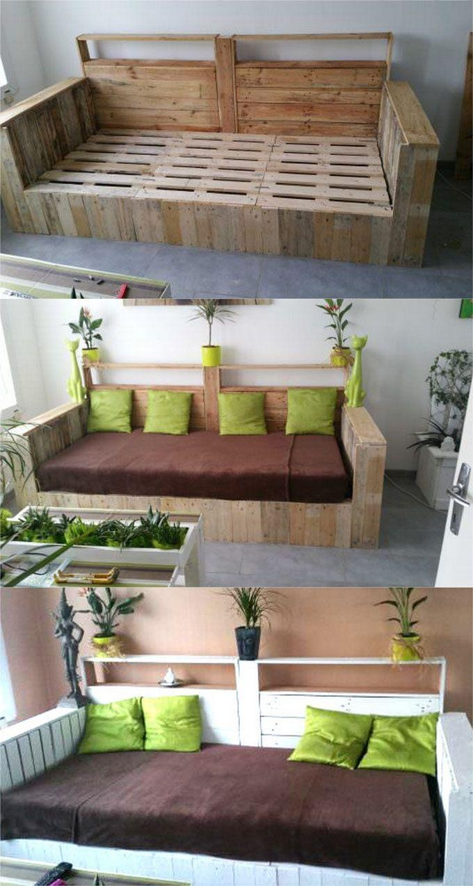74 Best Pallet Sofas Images On Pinterest | Pallet Ideas, Pallet with regard to Pallet Sofas