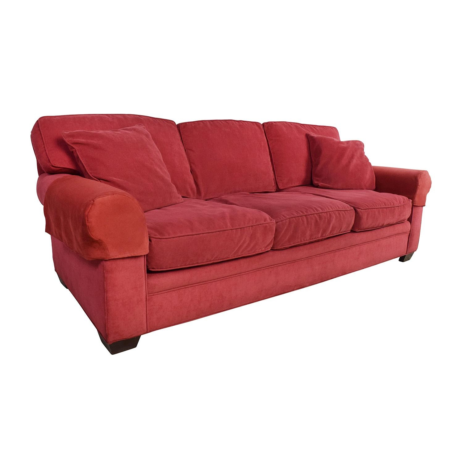 77% Off – Crate And Barrel Crate & Barrel Microfiber Suede Throughout Crate And Barrel Futon Sofas (Image 6 of 20)