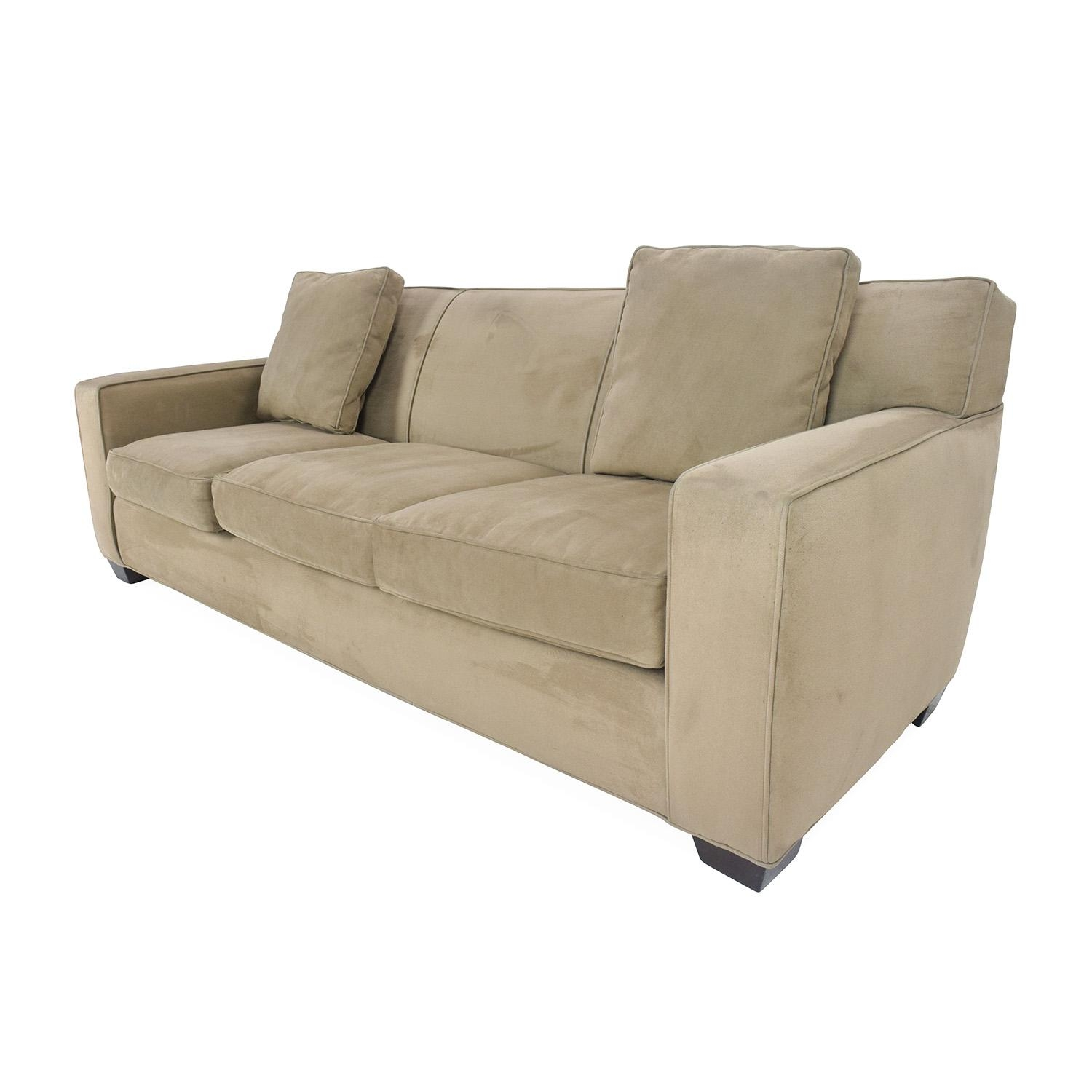 78% Off – Crate And Barrel Crate And Barrel Cameron Sofa / Sofas Intended For Crate And Barrel Futon Sofas (View 17 of 20)