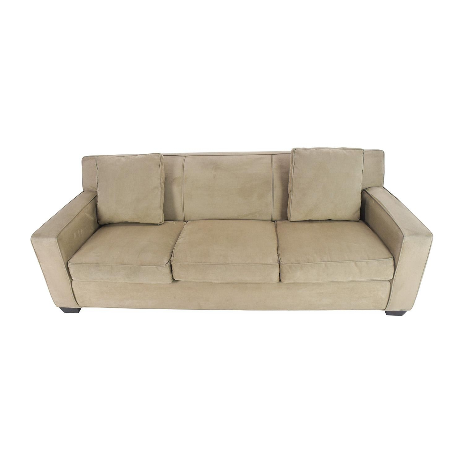78% Off – Crate And Barrel Crate And Barrel Cameron Sofa / Sofas Regarding Crate And Barrel Futon Sofas (Image 9 of 20)