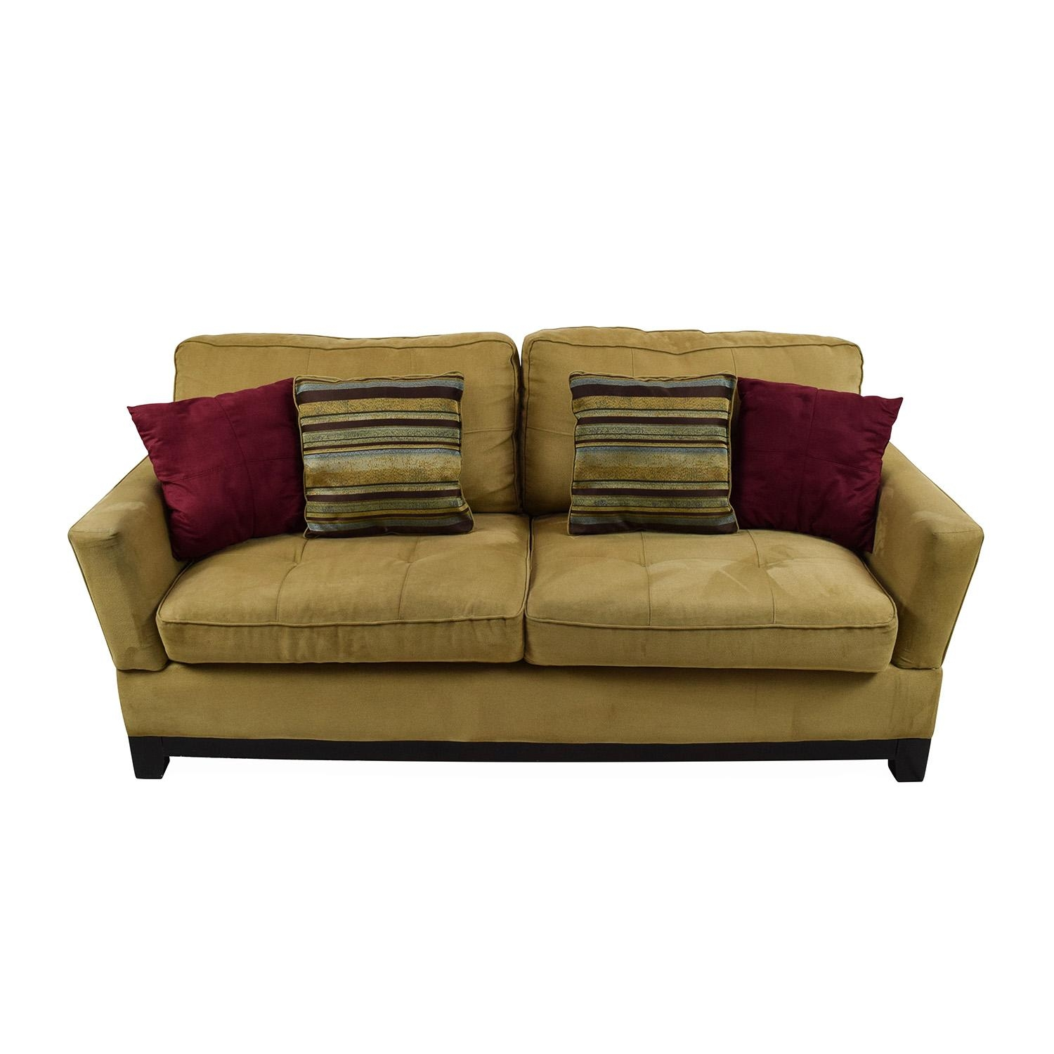 78% Off – Jennifer Convertibles Jennifer Convertibles Tan Sofa / Sofas With Regard To Jennifer Sofas (Image 8 of 20)
