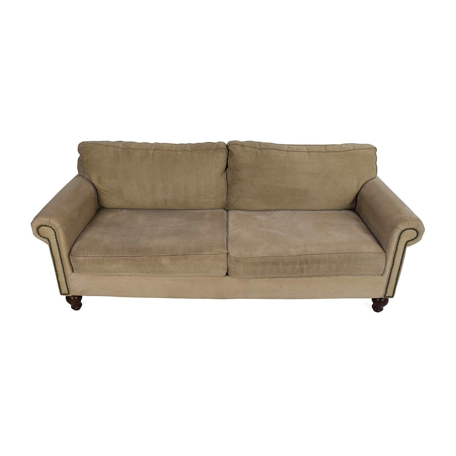 80% Off – Pier 1 Imports Pier 1 Alton Rolled Arm Sofa / Sofas Intended For Pier 1 Sofa Beds (Image 6 of 20)
