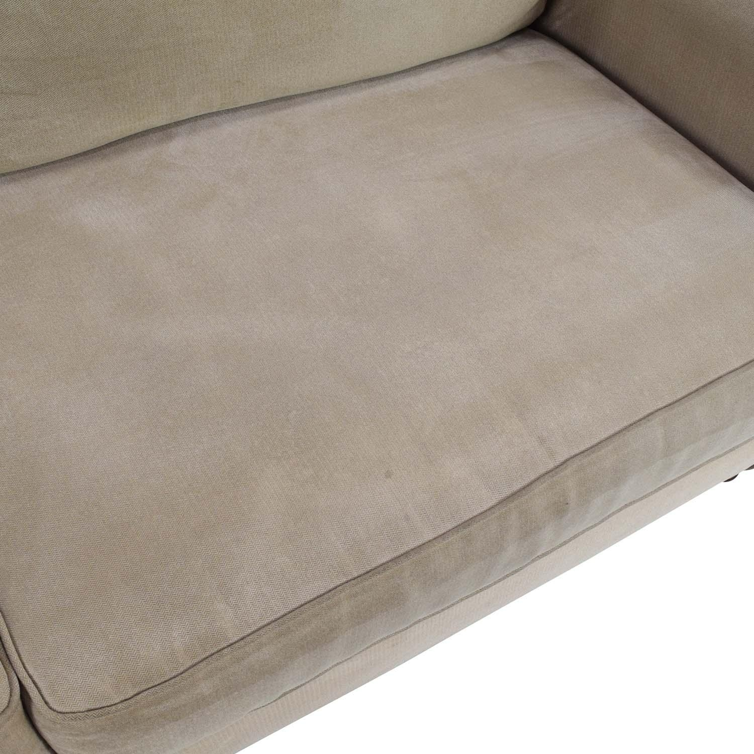 80% Off - Pier 1 Imports Pier 1 Alton Rolled Arm Sofa / Sofas pertaining to Pier 1 Sofa Beds