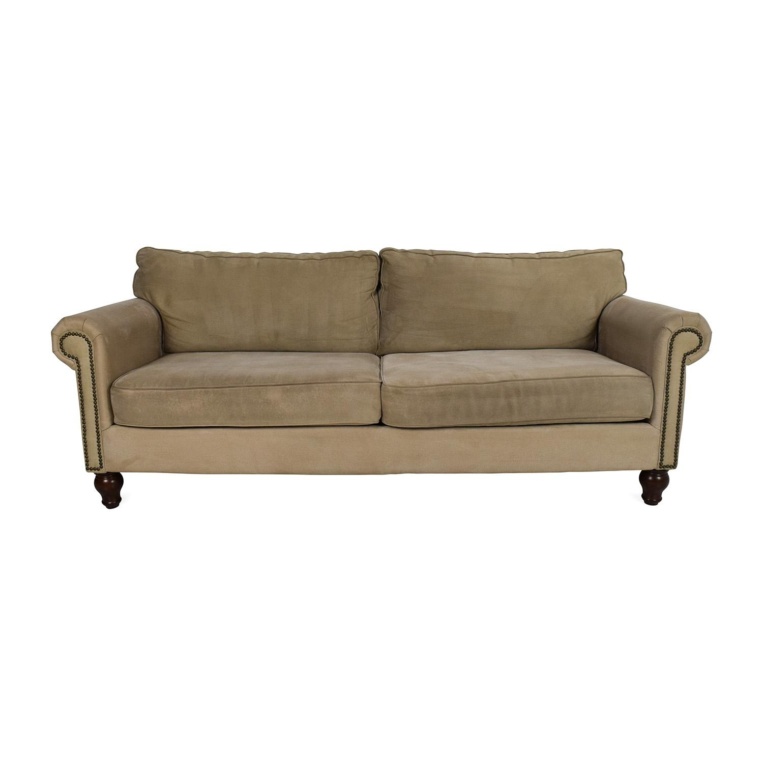 80% Off - Pier 1 Imports Pier 1 Alton Rolled Arm Sofa / Sofas throughout Pier 1 Sofas