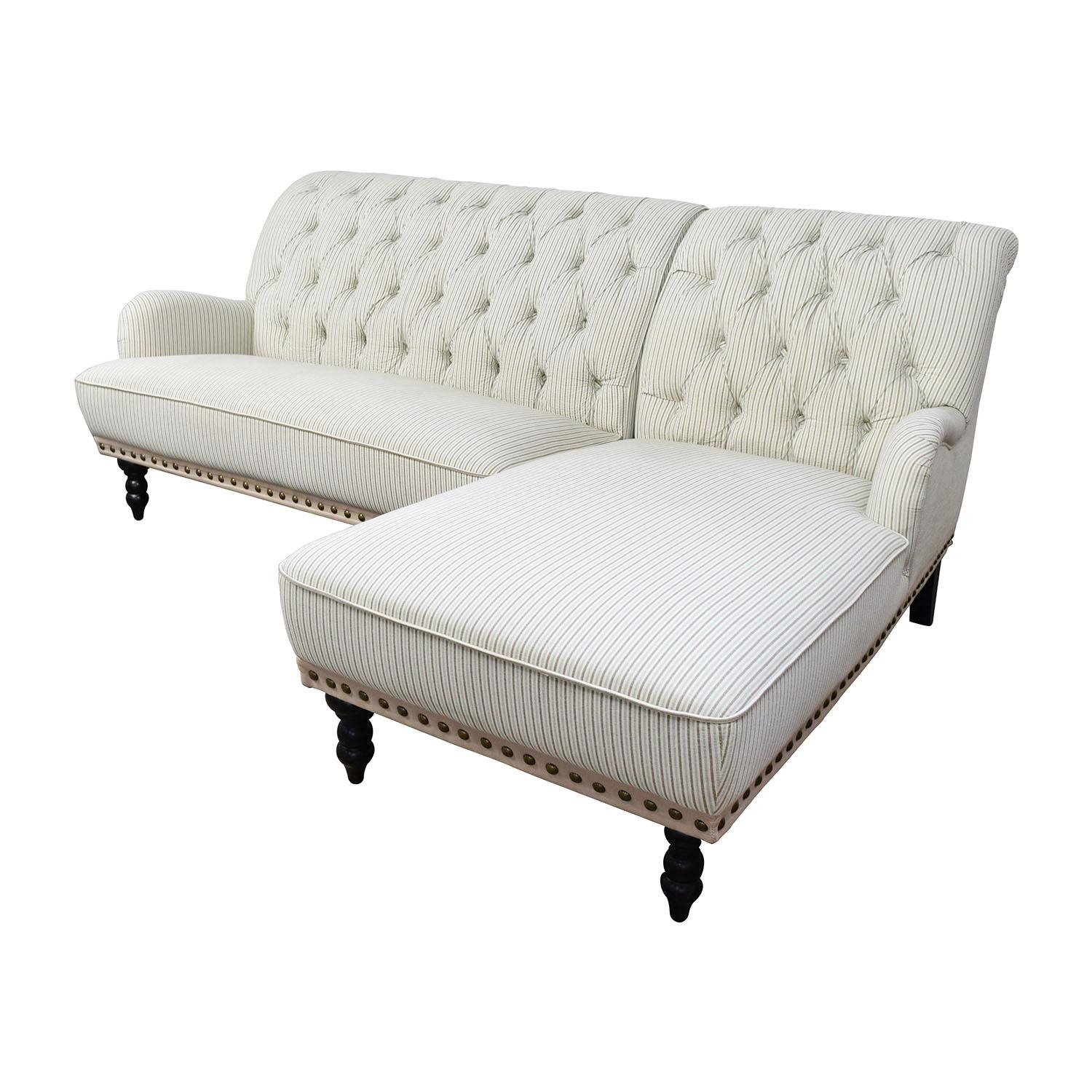 80% Off - Pier 1 Imports Pier 1 Imports Striped Chaise Sectional with Pier 1 Sofas