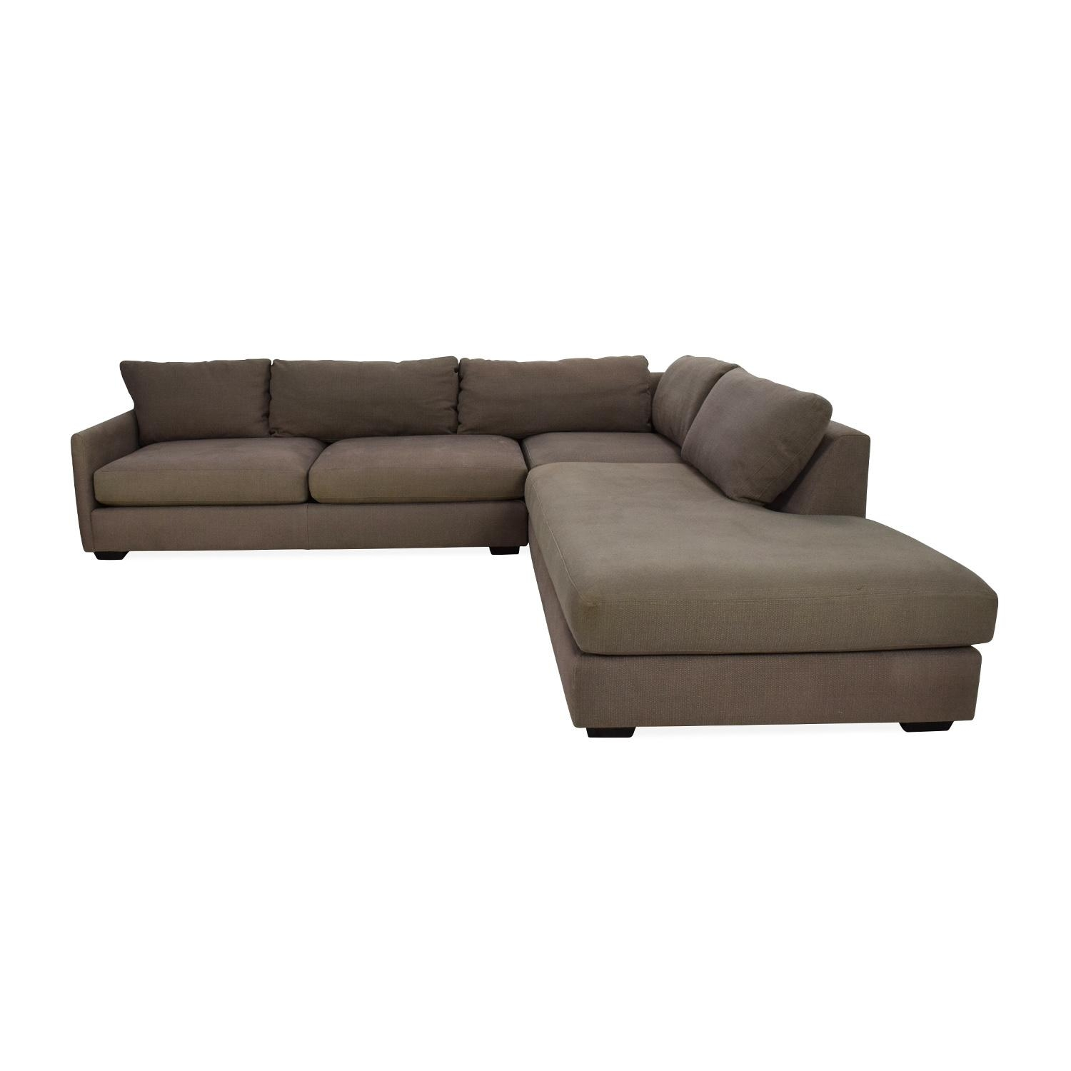 82% Off - Crate And Barrel Crate & Barrel Domino Sectional Sofa inside Crate And Barrel Sleeper Sofas