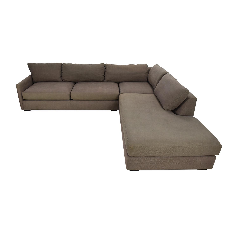 82% Off - Crate And Barrel Crate & Barrel Domino Sectional Sofa pertaining to Crate and Barrel Sectional