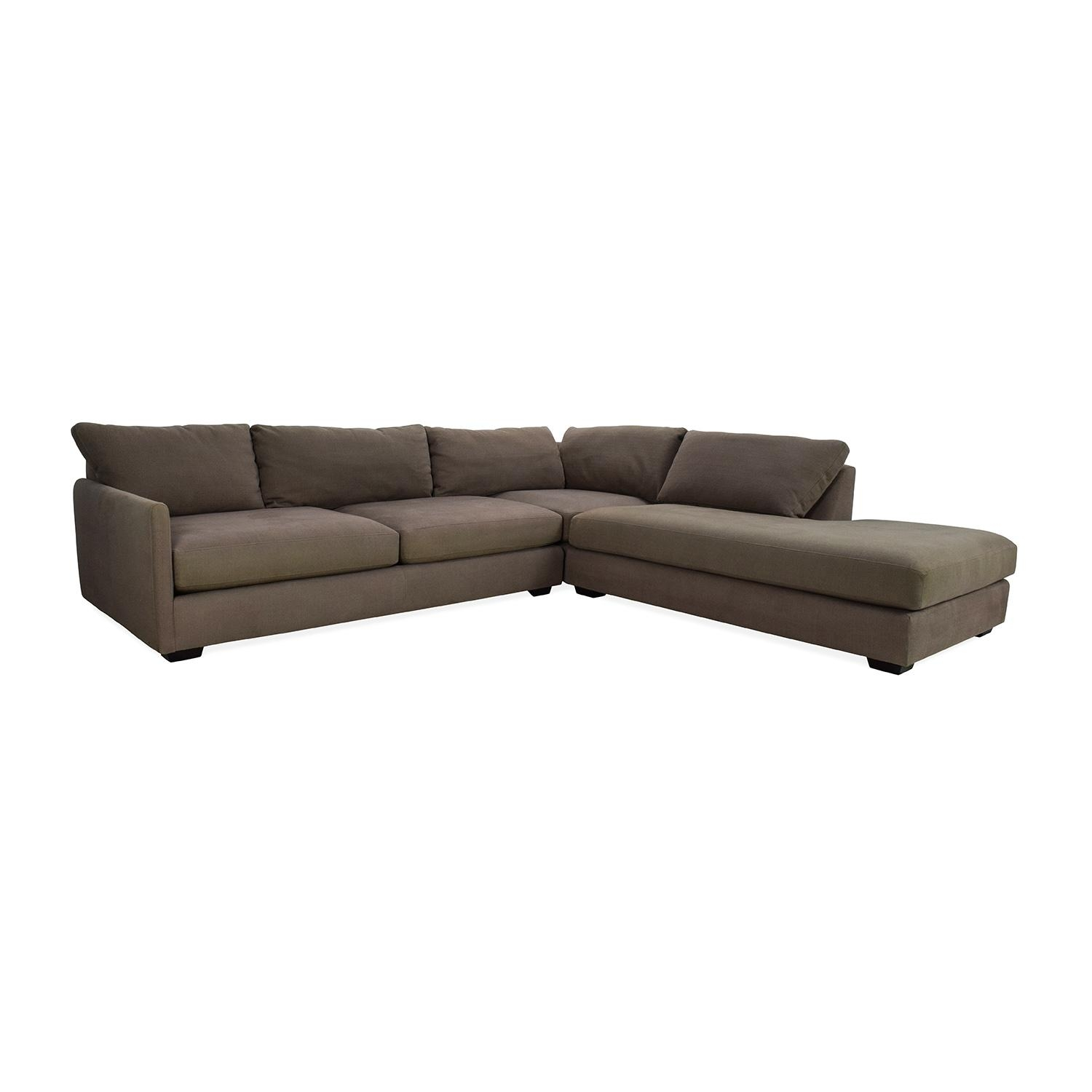 82% Off – Crate And Barrel Crate & Barrel Domino Sectional Sofa With Regard To Sectional Crate And Barrel (Image 6 of 20)