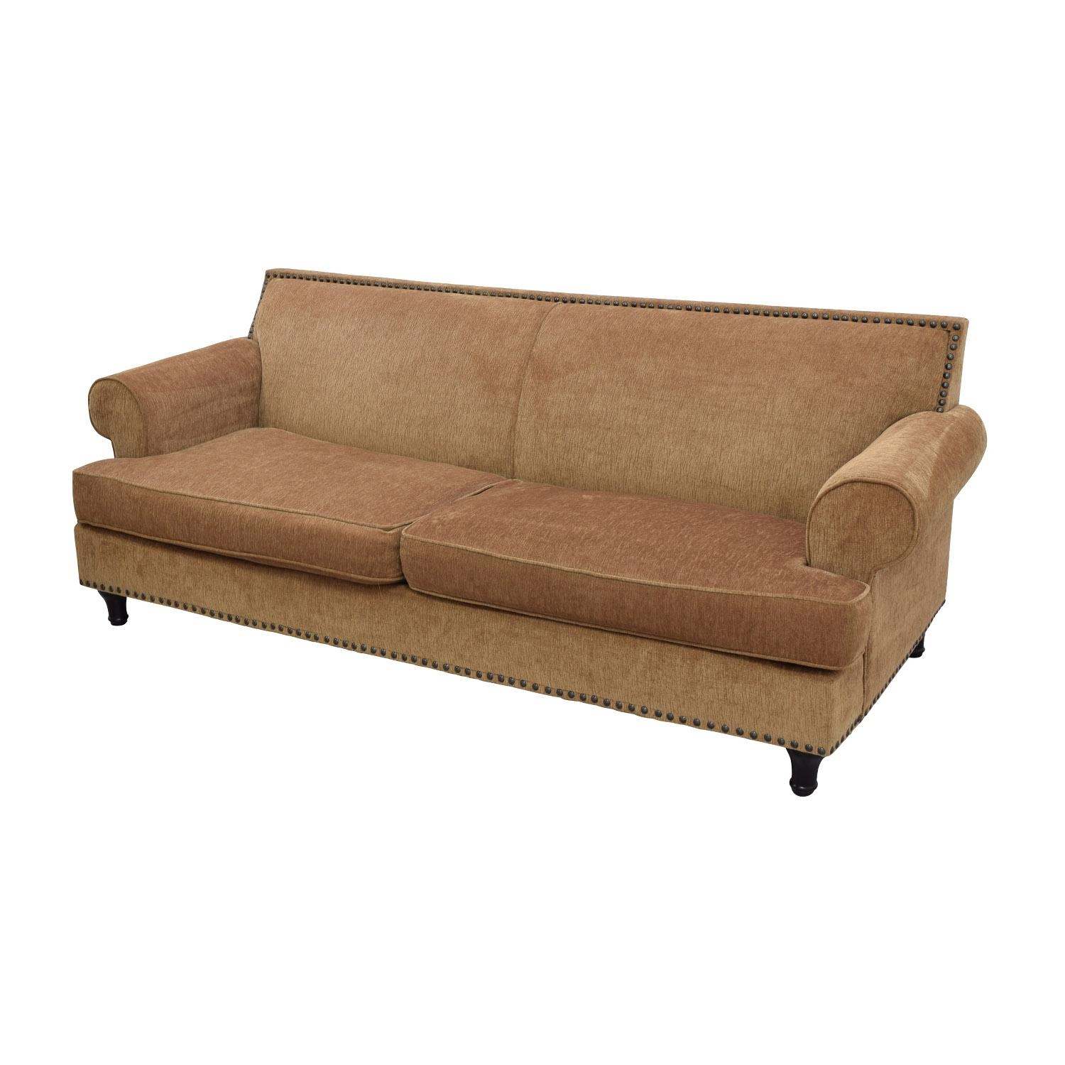 82% Off – Pier 1 Imports Pier 1 Imports Carmen Brown Sofa / Sofas Within Pier 1 Sofas (Image 10 of 20)