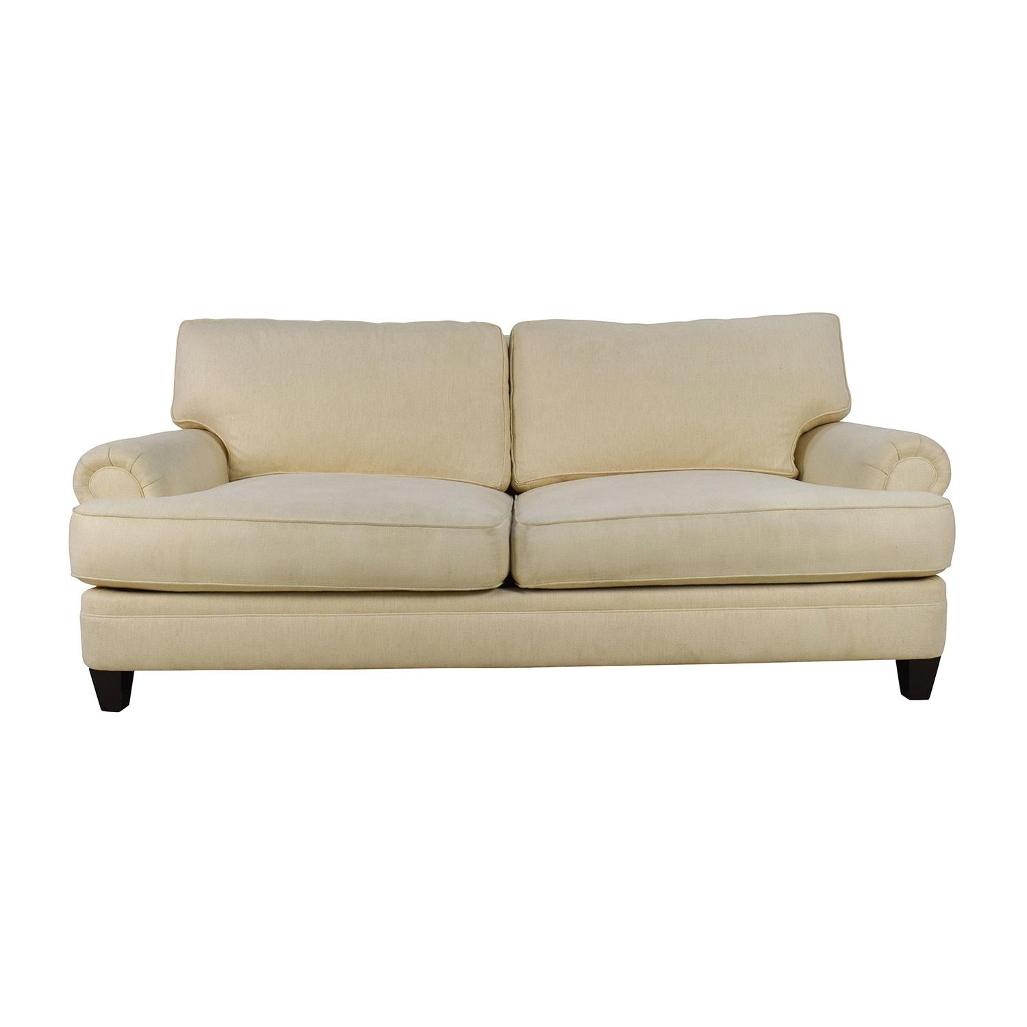 83% Off – Henredon Henredon Fireside Short Beige 3 Seater Sofa / Sofas Pertaining To Short Sofas (Photo 1 of 20)