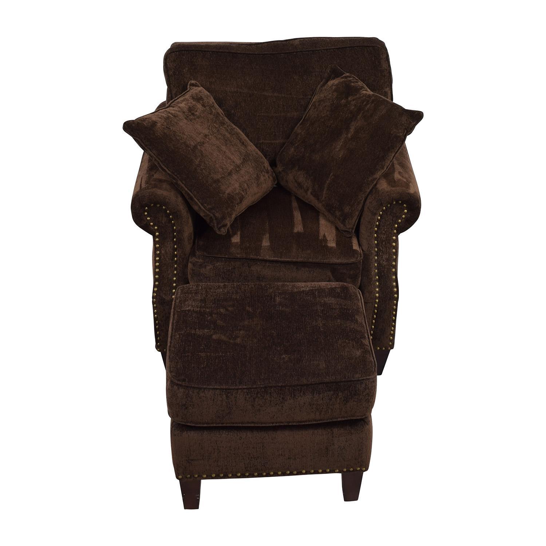 86% Off - Pottery Barn Pottery Barn Buchanan Roll Arm Arm Chair inside Brown Sofa Chairs