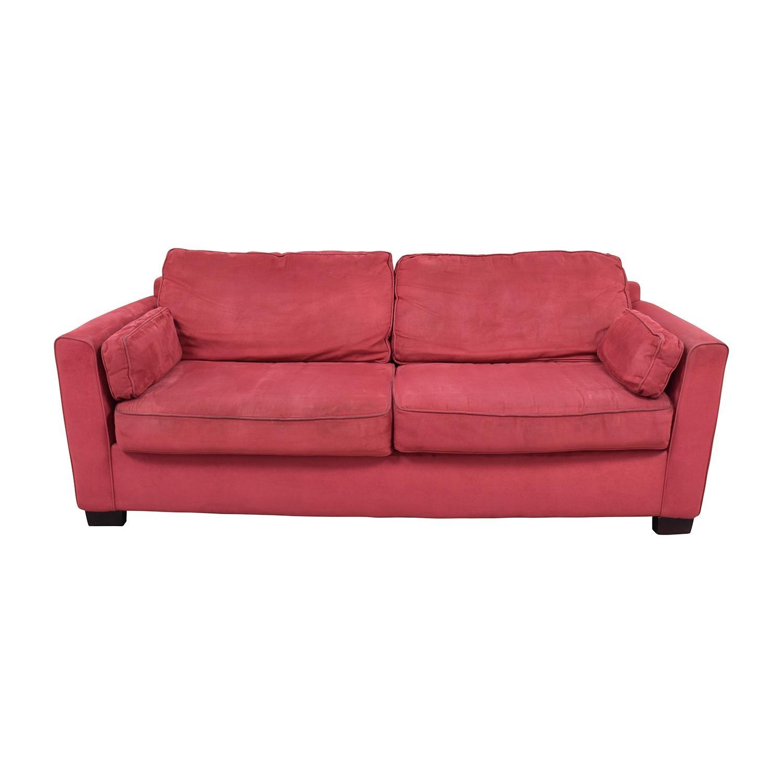 88% Off - Bloomingdales Bloomingdale's Classic Low Profile Red in Bloomingdales Sofas